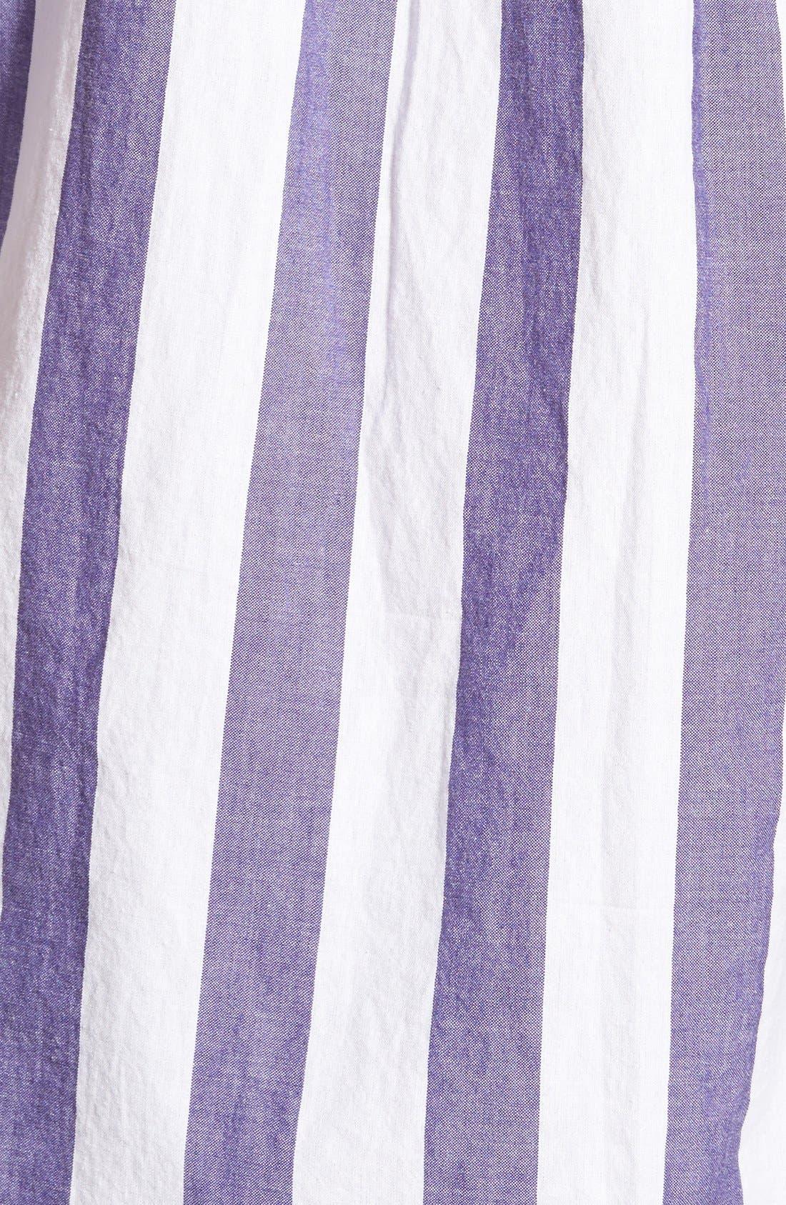 GANT RUGGER, E-Z Fit Madras Stripe Woven Pullover Shirt, Alternate thumbnail 4, color, 436