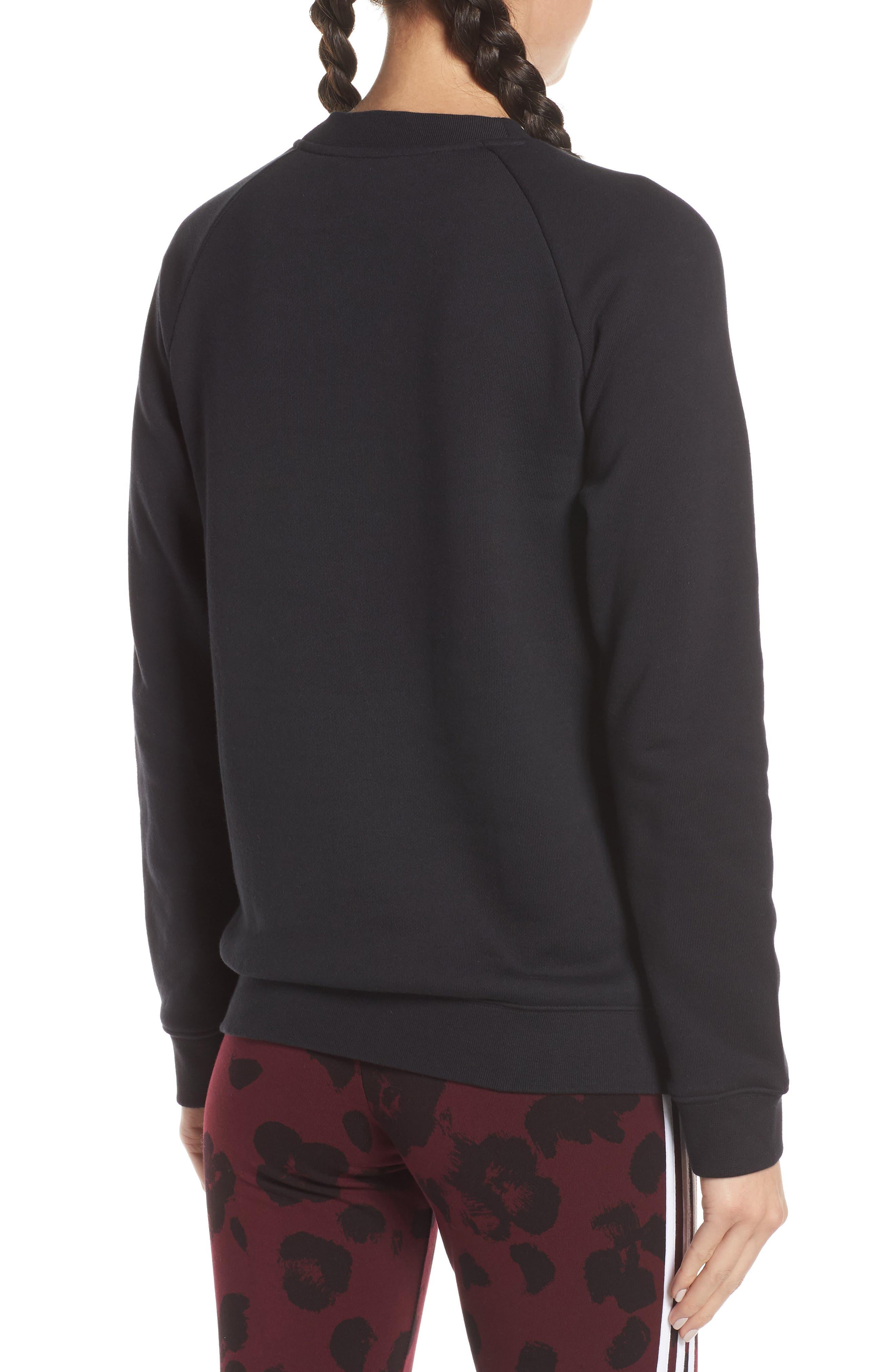 ADIDAS ORIGINALS, Trefoil Sweatshirt, Alternate thumbnail 2, color, 001