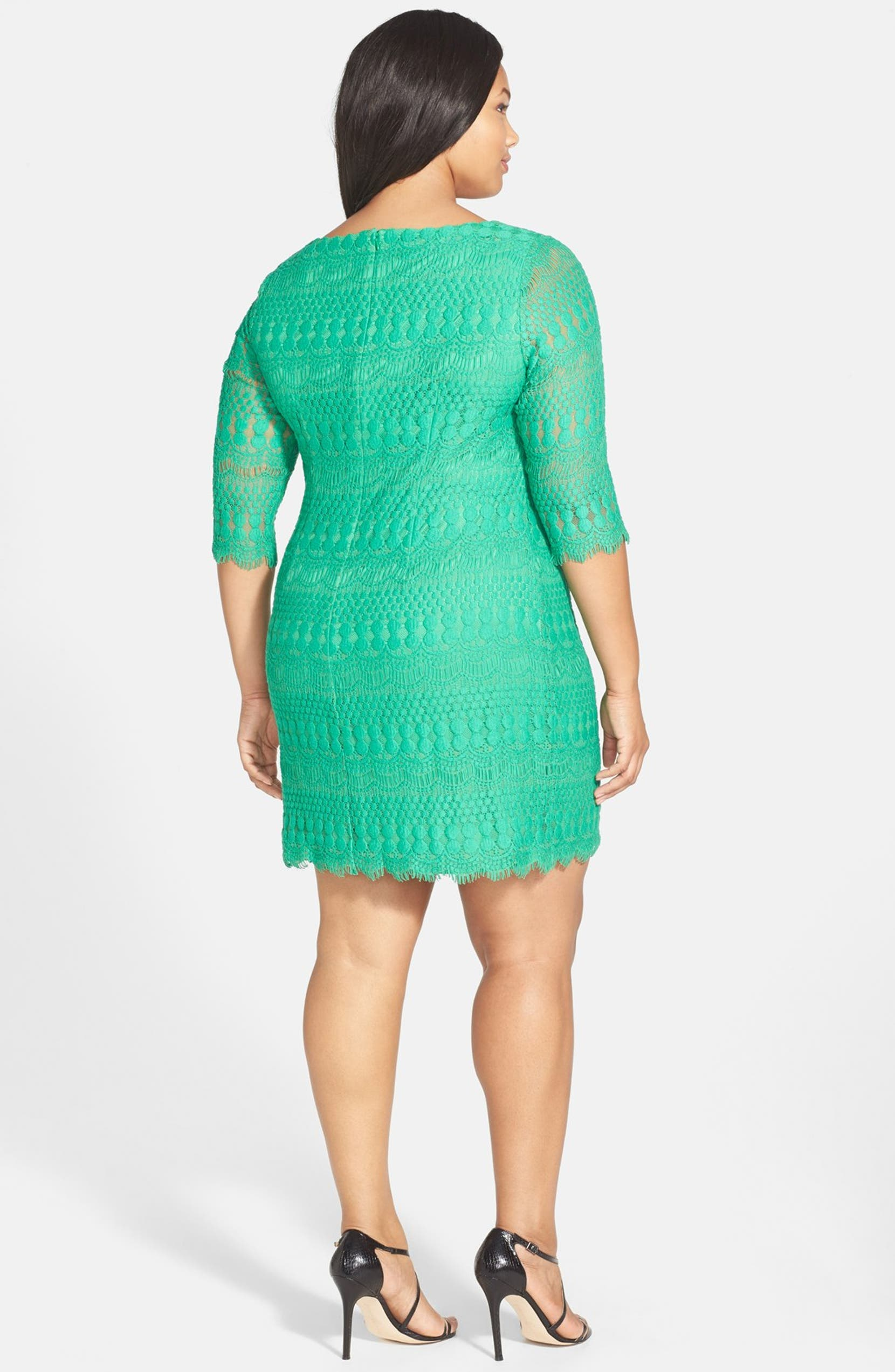 7634b81b Jessica Howard Lace Shift Dress (Plus Size) | Nordstrom