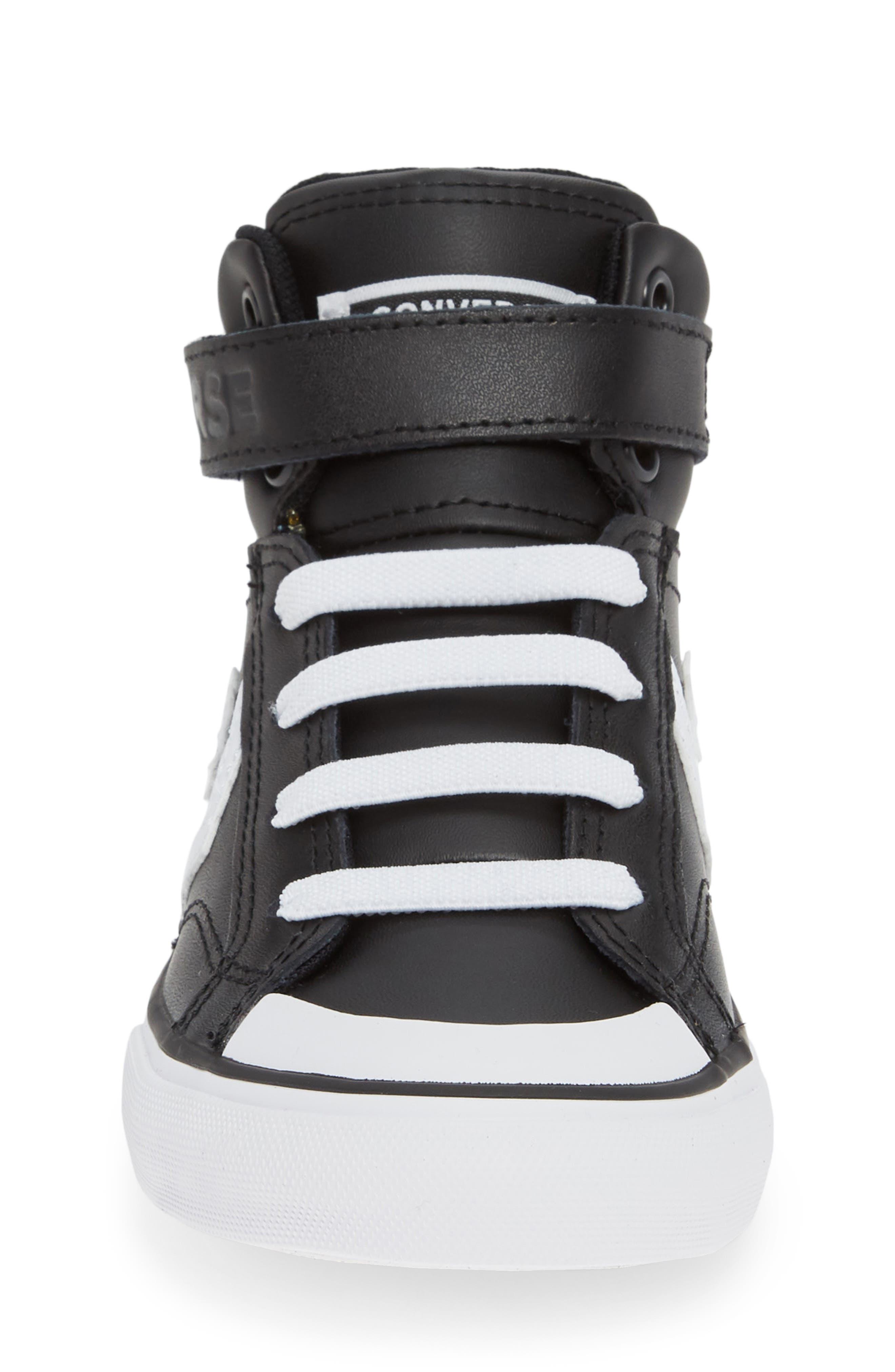 CONVERSE, Pro Blaze High Top Sneaker, Alternate thumbnail 4, color, BLACK/ WHITE/ WHITE