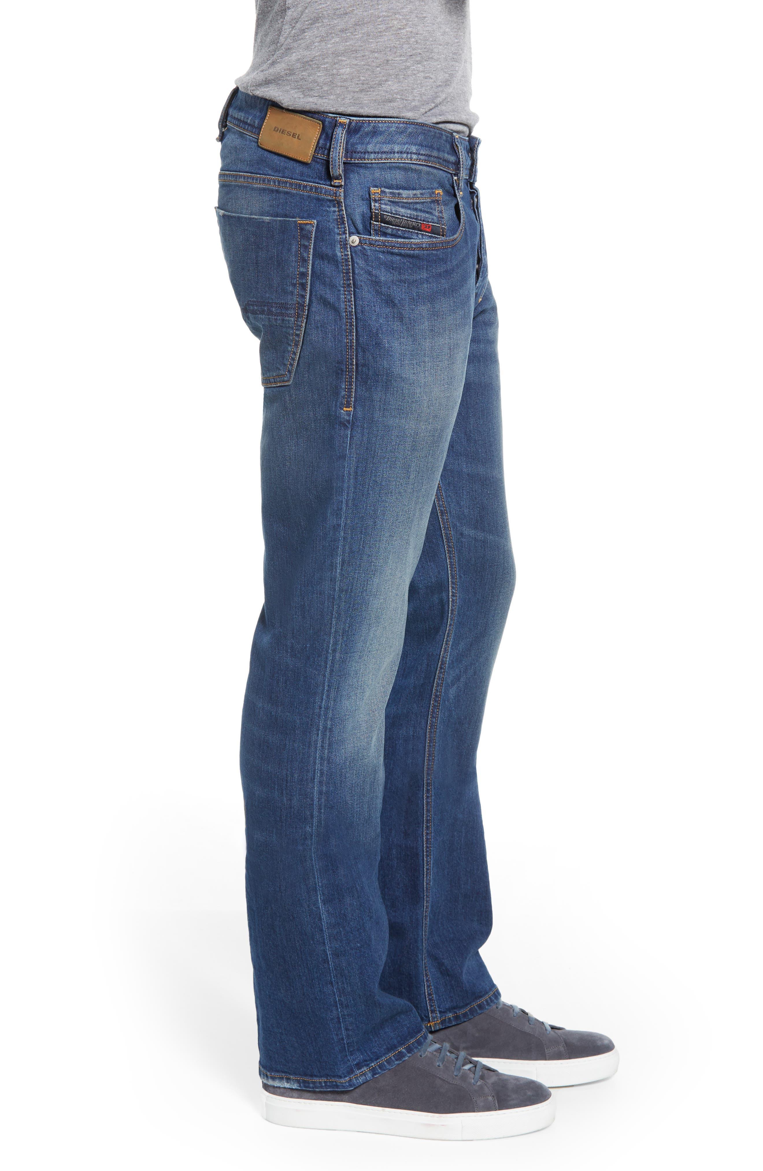 DIESEL<SUP>®</SUP>, Zatiny Bootcut Jeans, Alternate thumbnail 4, color, DENIM