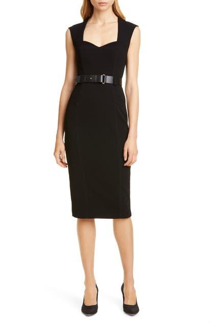 Karen Millen Elongated Investment Belted Dress