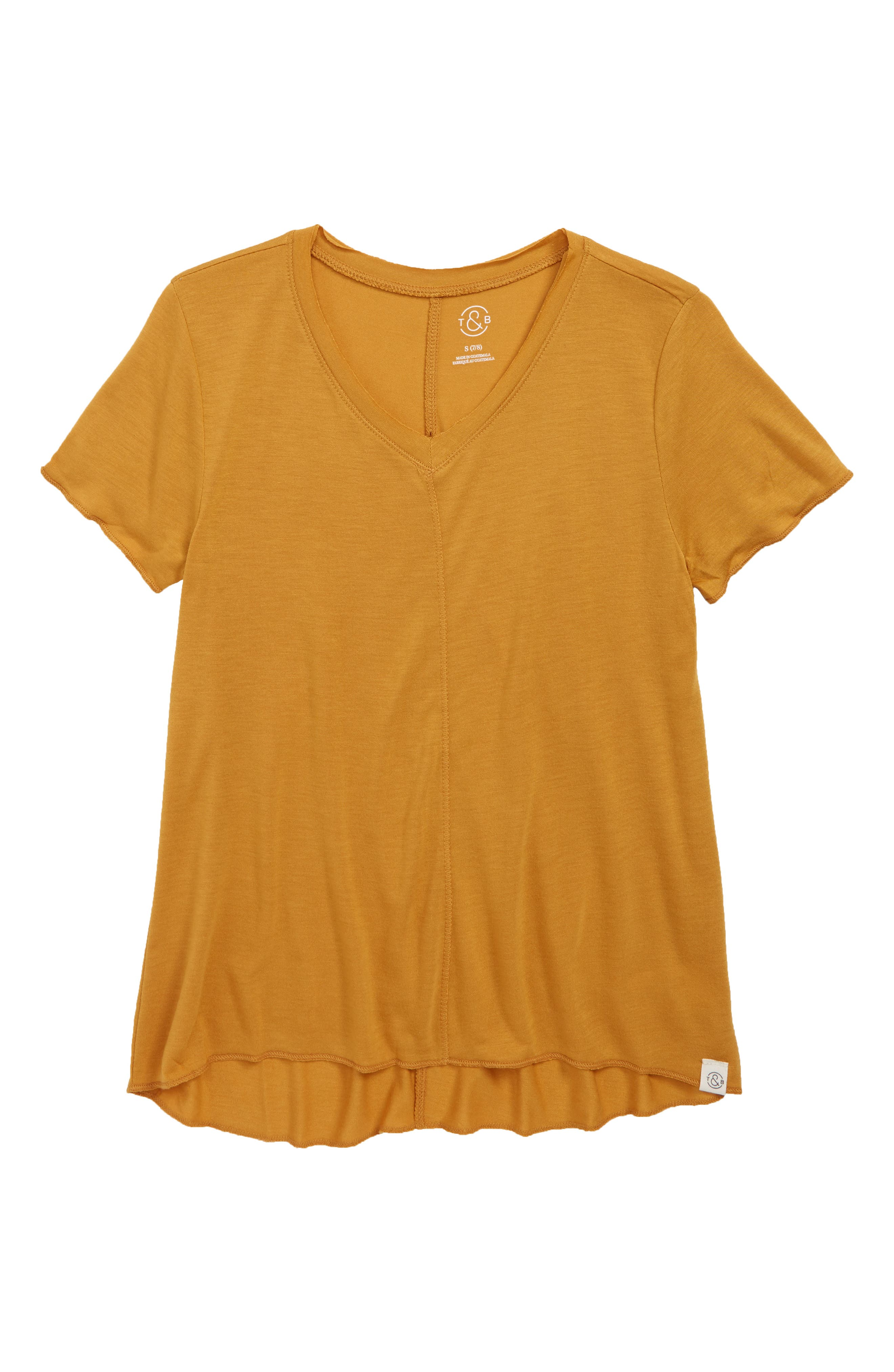 TREASURE & BOND, Easy Swing Tee, Main thumbnail 1, color, YELLOW SPRUCE