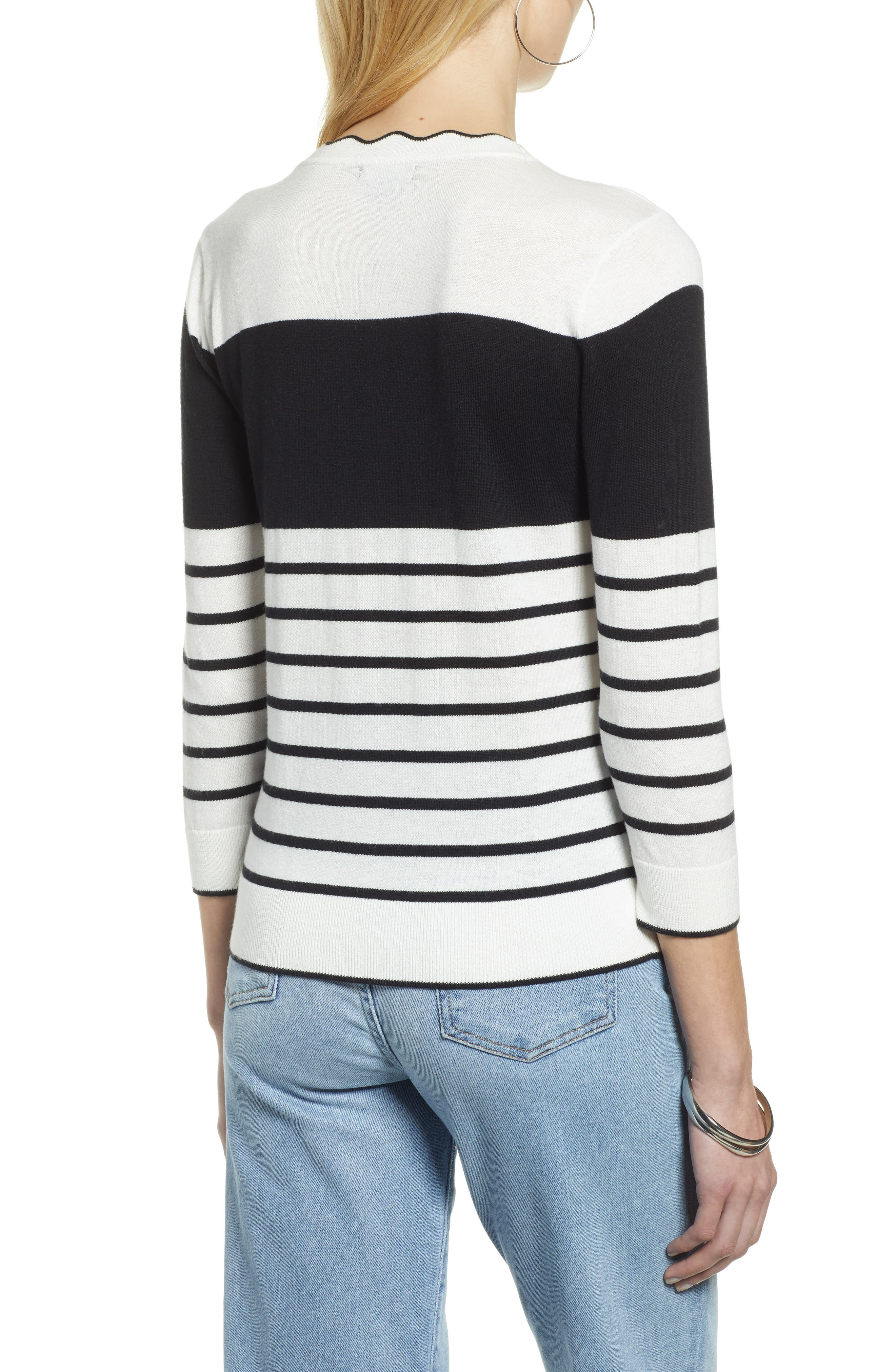 HALOGEN<SUP>®</SUP>, Scallop Neck Sweater, Alternate thumbnail 2, color, 900