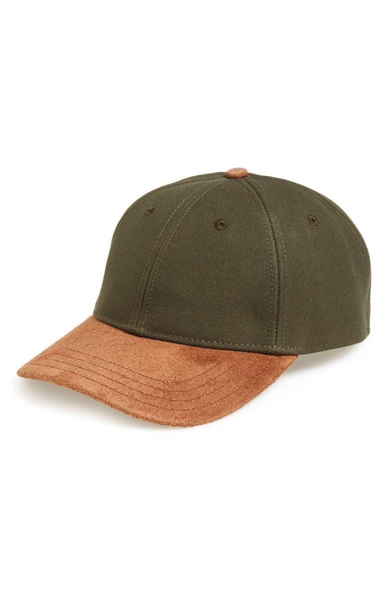 794aaa67dc7f RAG & BONE Suede Brim Baseball Cap, Main, color, ...