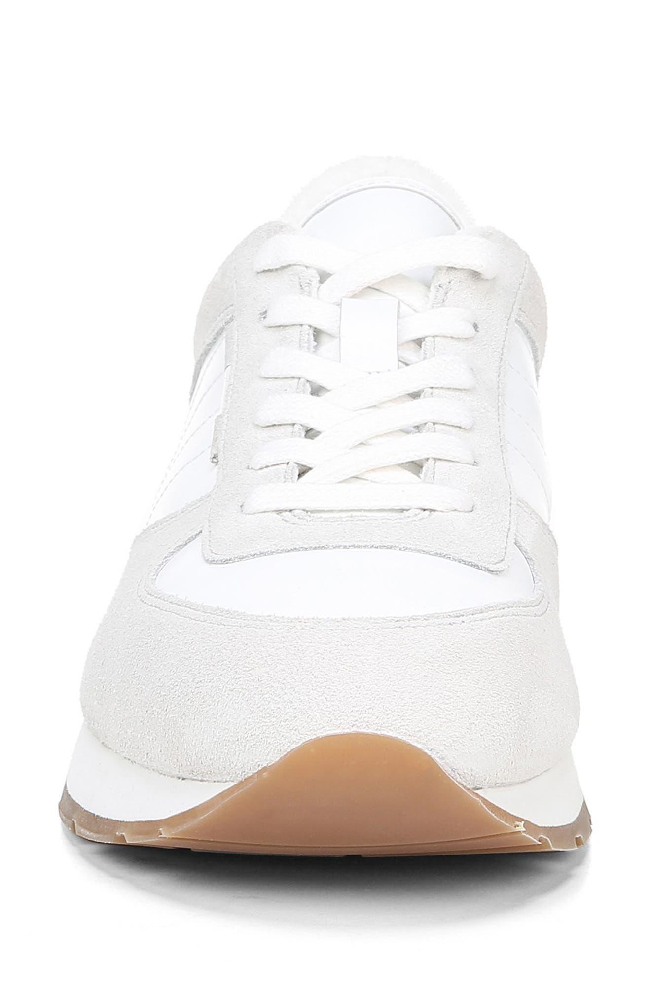 VINCE, Pasha Sneaker, Alternate thumbnail 4, color, WHITE