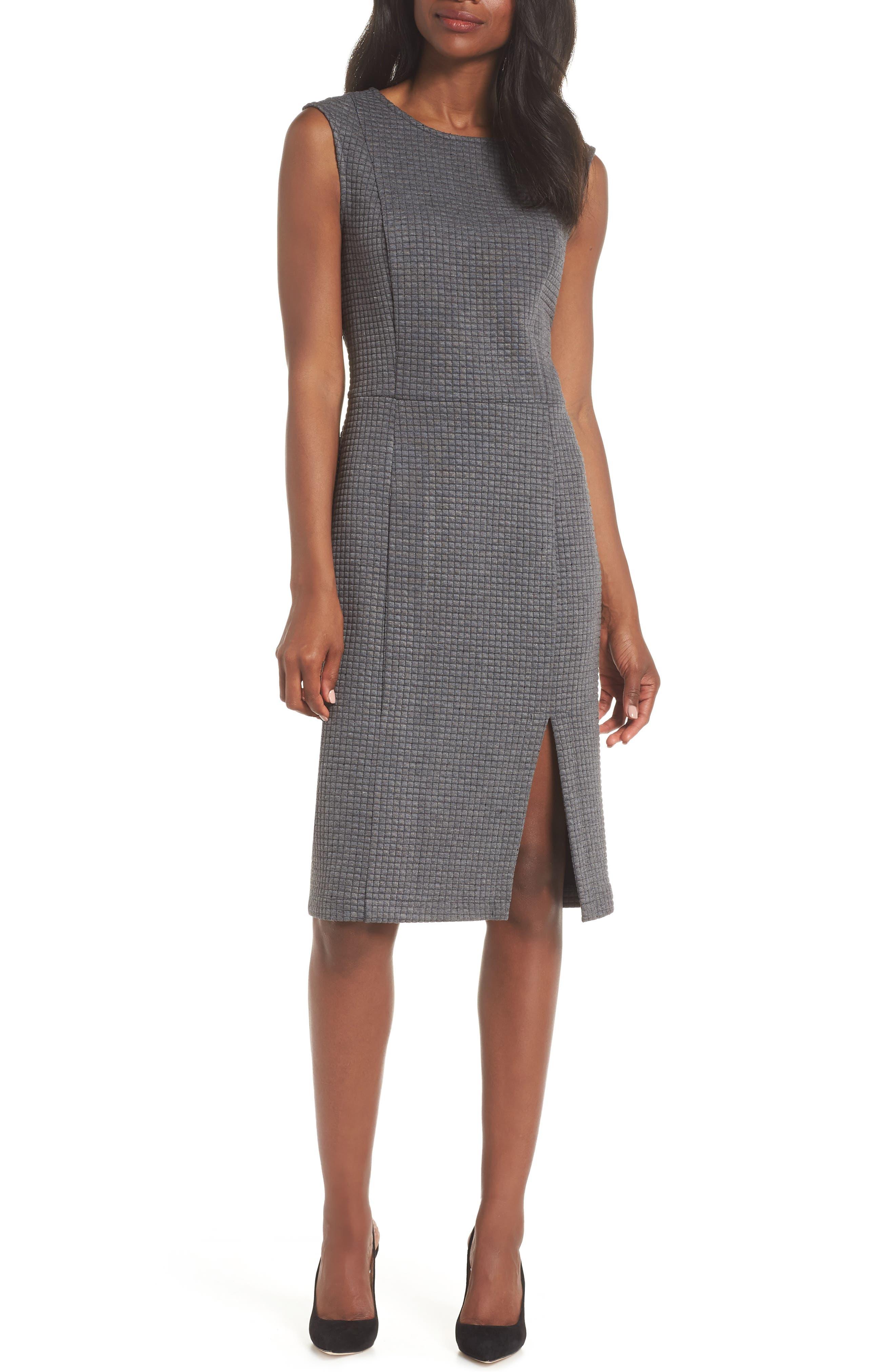 Leota Nora Sheath Dress, Grey