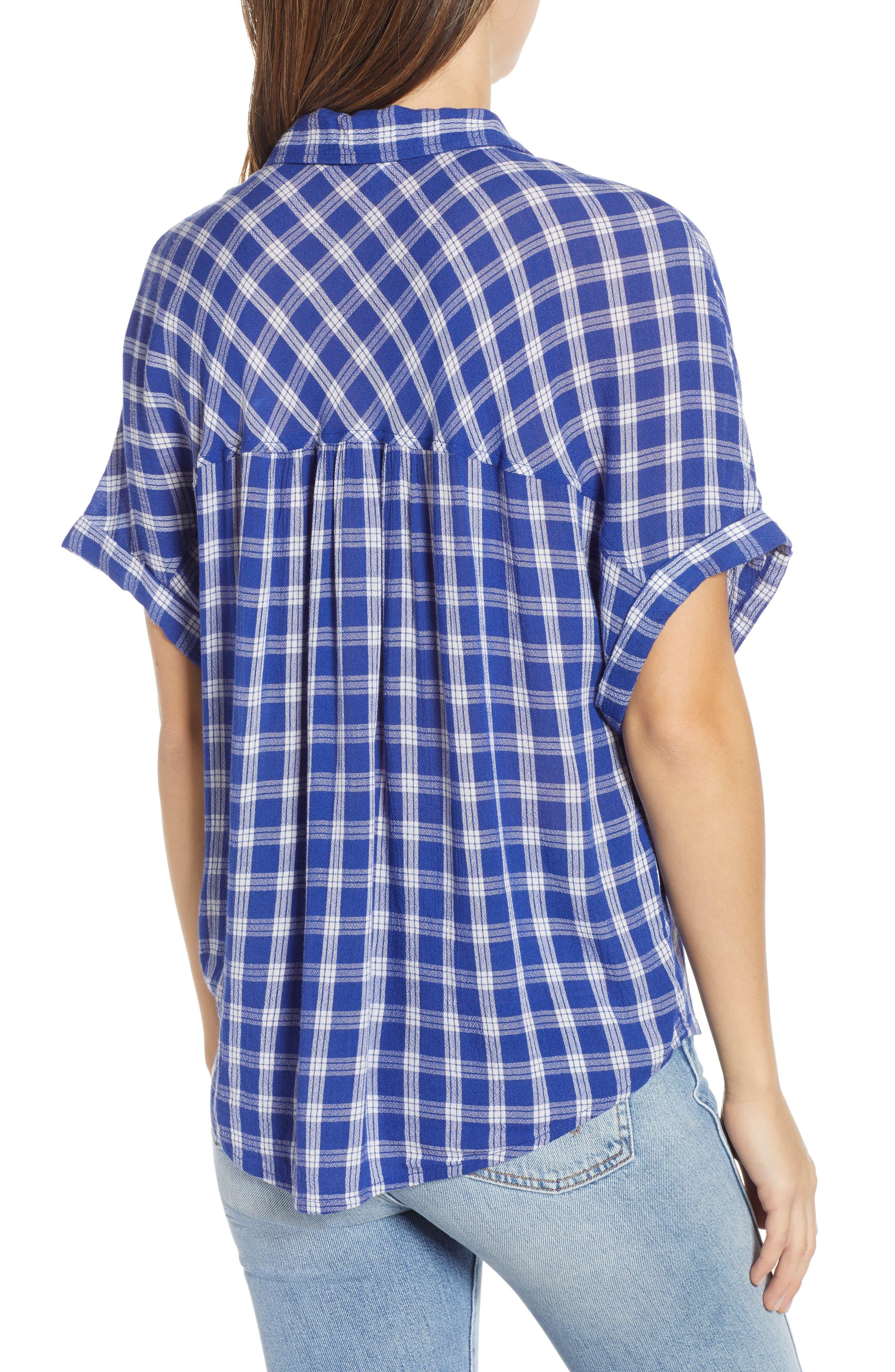 BP., Plaid Dolman Sleeve Shirt, Alternate thumbnail 3, color, 420