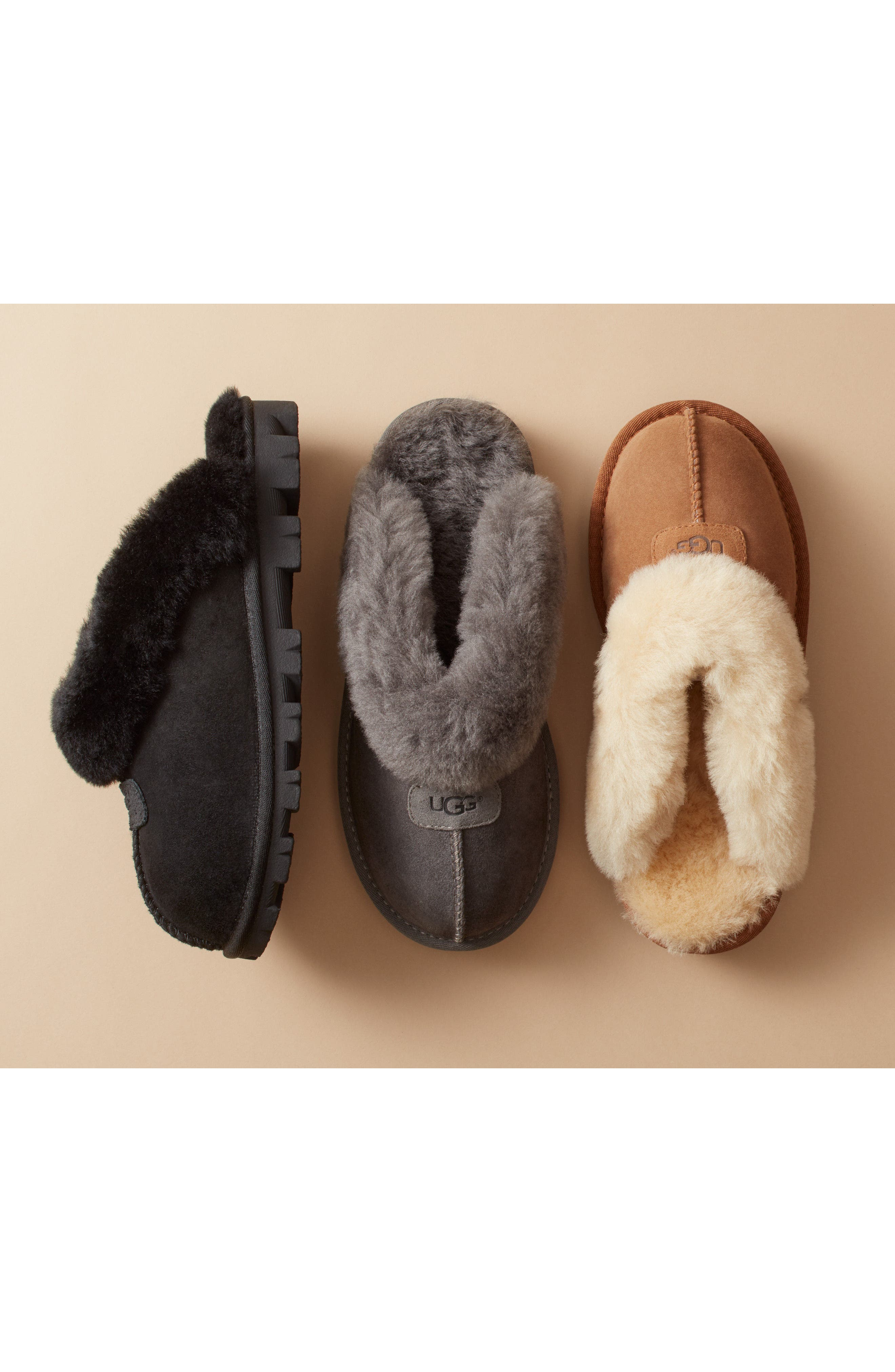 UGG<SUP>®</SUP>, Genuine Shearling Slipper, Alternate thumbnail 15, color, CHESTNUT