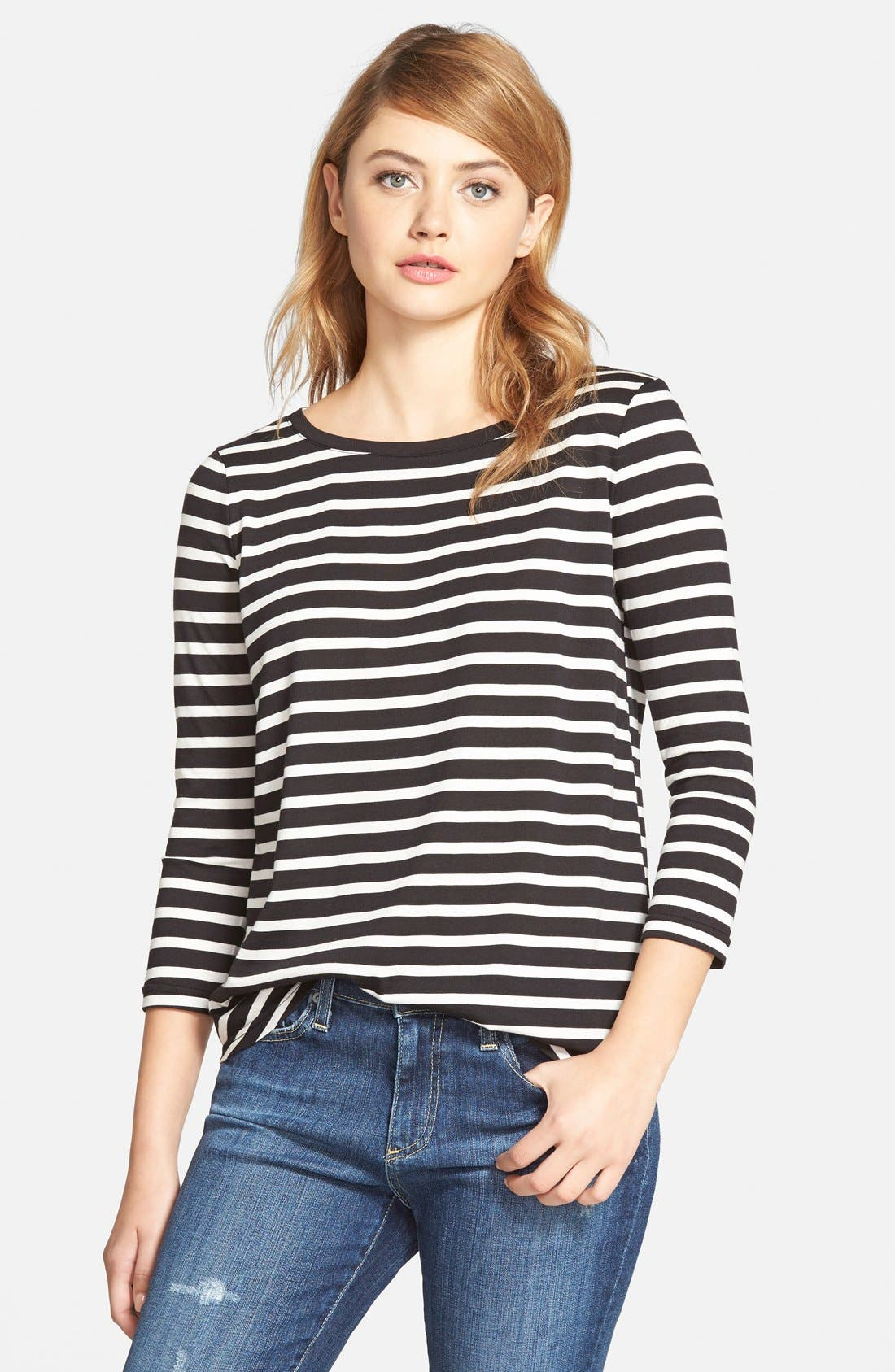 CUPCAKES AND CASHMERE, 'Mendocino' Stripe Top, Main thumbnail 1, color, 001