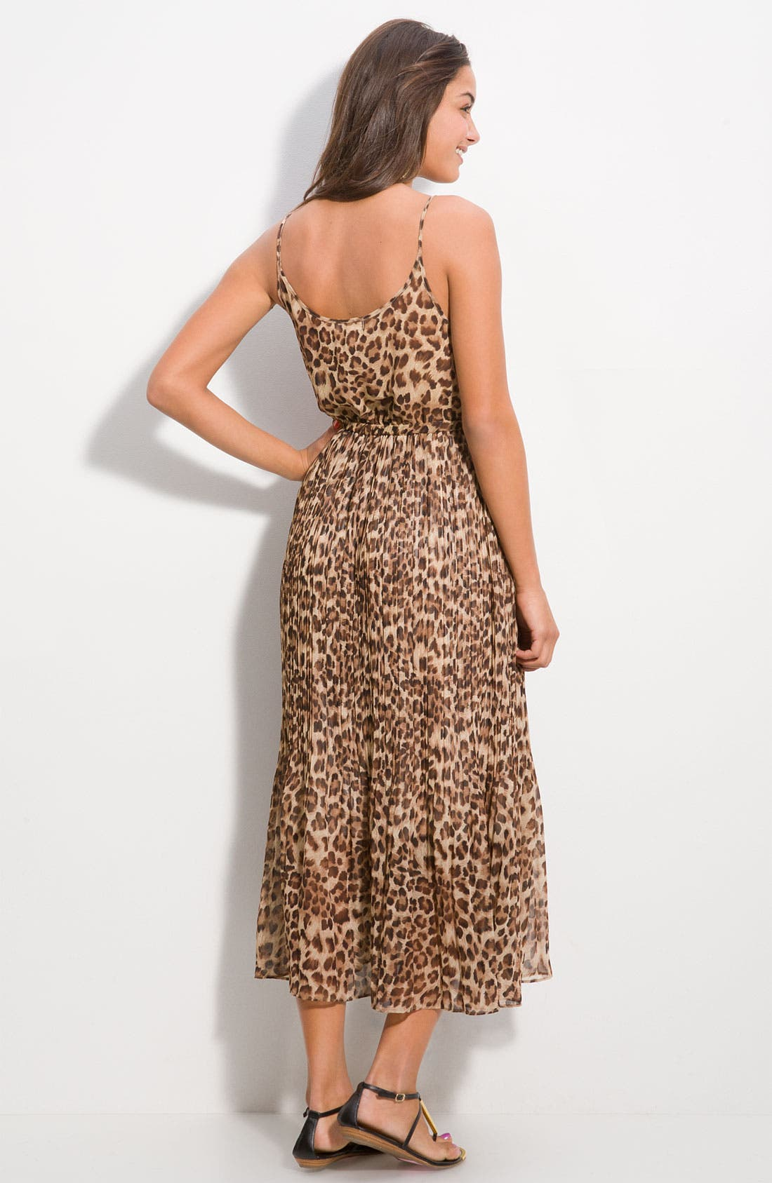 DEE&RAY, Animal Print Maxi Dress, Alternate thumbnail 2, color, 200