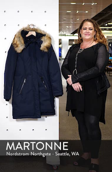 Faux Fur Trim Down Jacket, sales video thumbnail