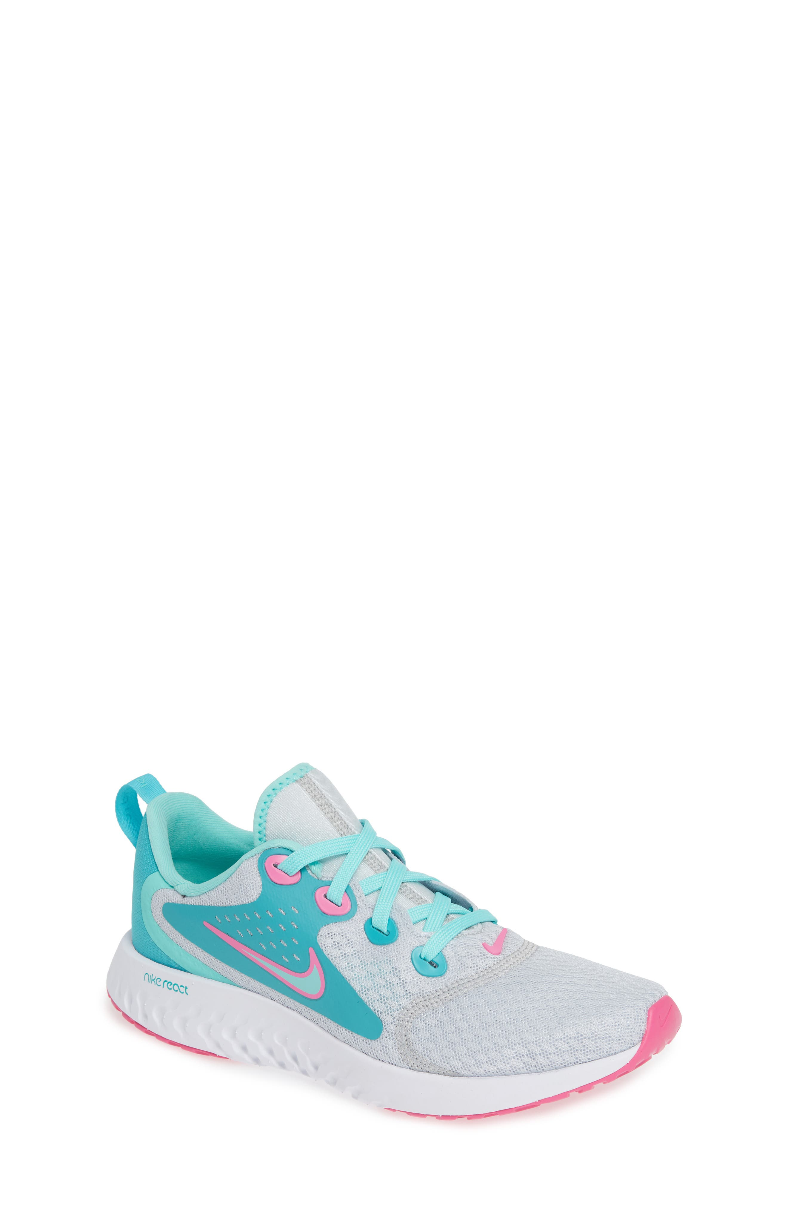 Kids Nike Legend React Aqua Running Shoe Size 45 M  Bluegreen