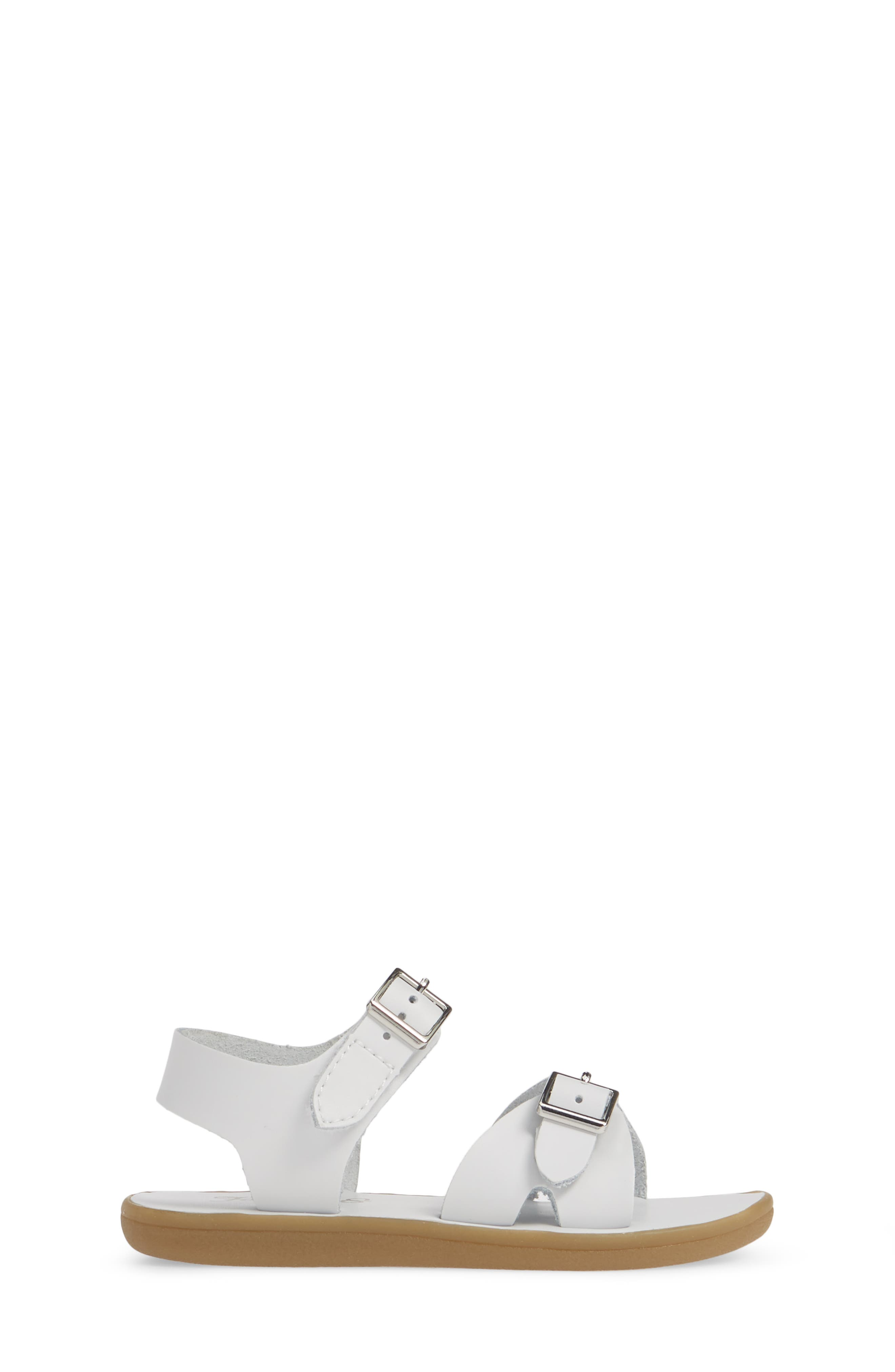 FOOTMATES, Tide Waterproof Sandal, Alternate thumbnail 3, color, WHITE