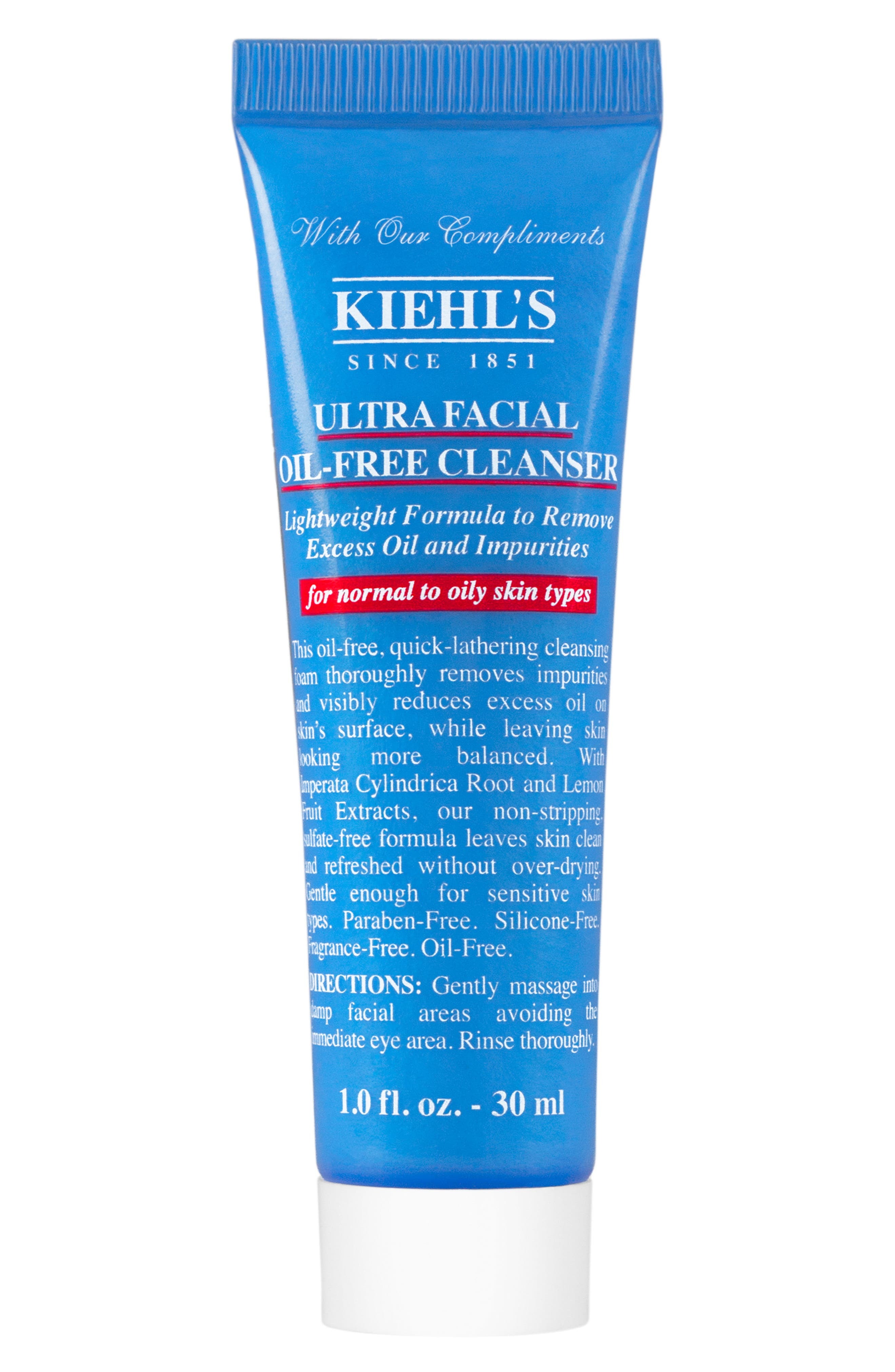 KIEHL'S SINCE 1851, 'Ultra Facial' Oil-Free Cleanser, Alternate thumbnail 3, color, NO COLOR