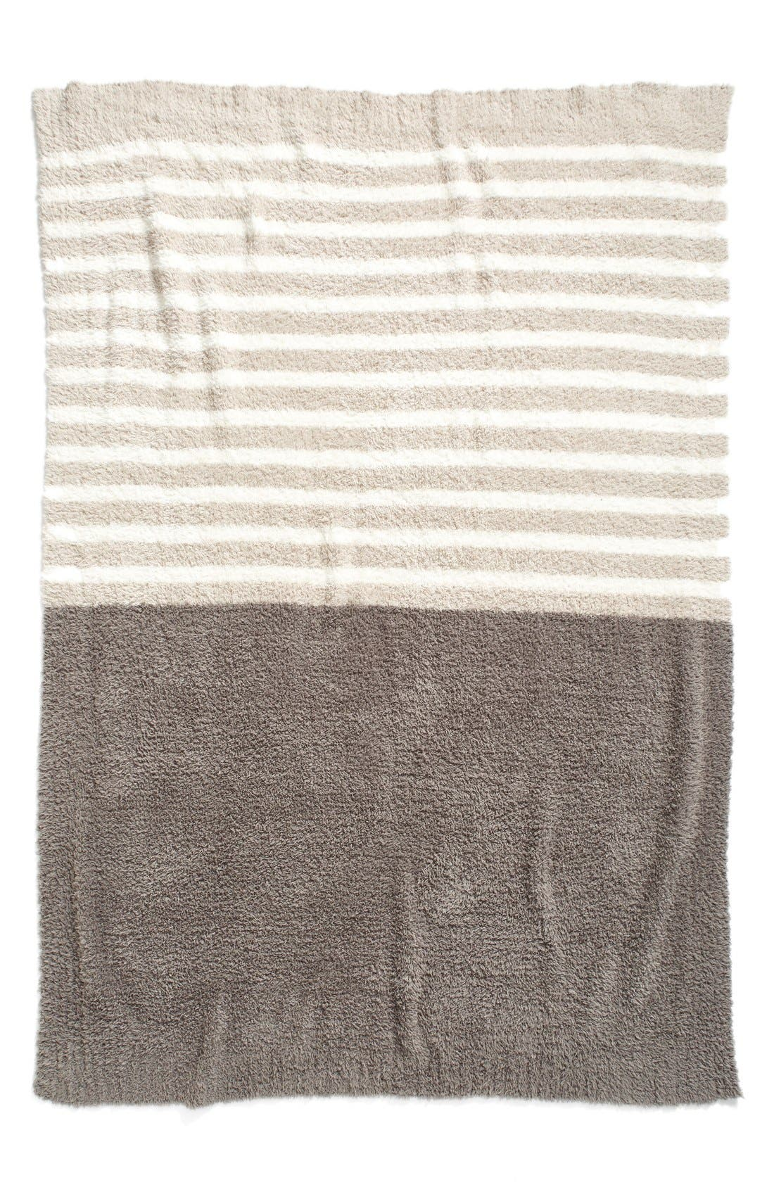BAREFOOT DREAMS<SUP>®</SUP>, Barefoot Dreams CozyChic<sup>®</sup> Horizon Throw, Alternate thumbnail 5, color, 020