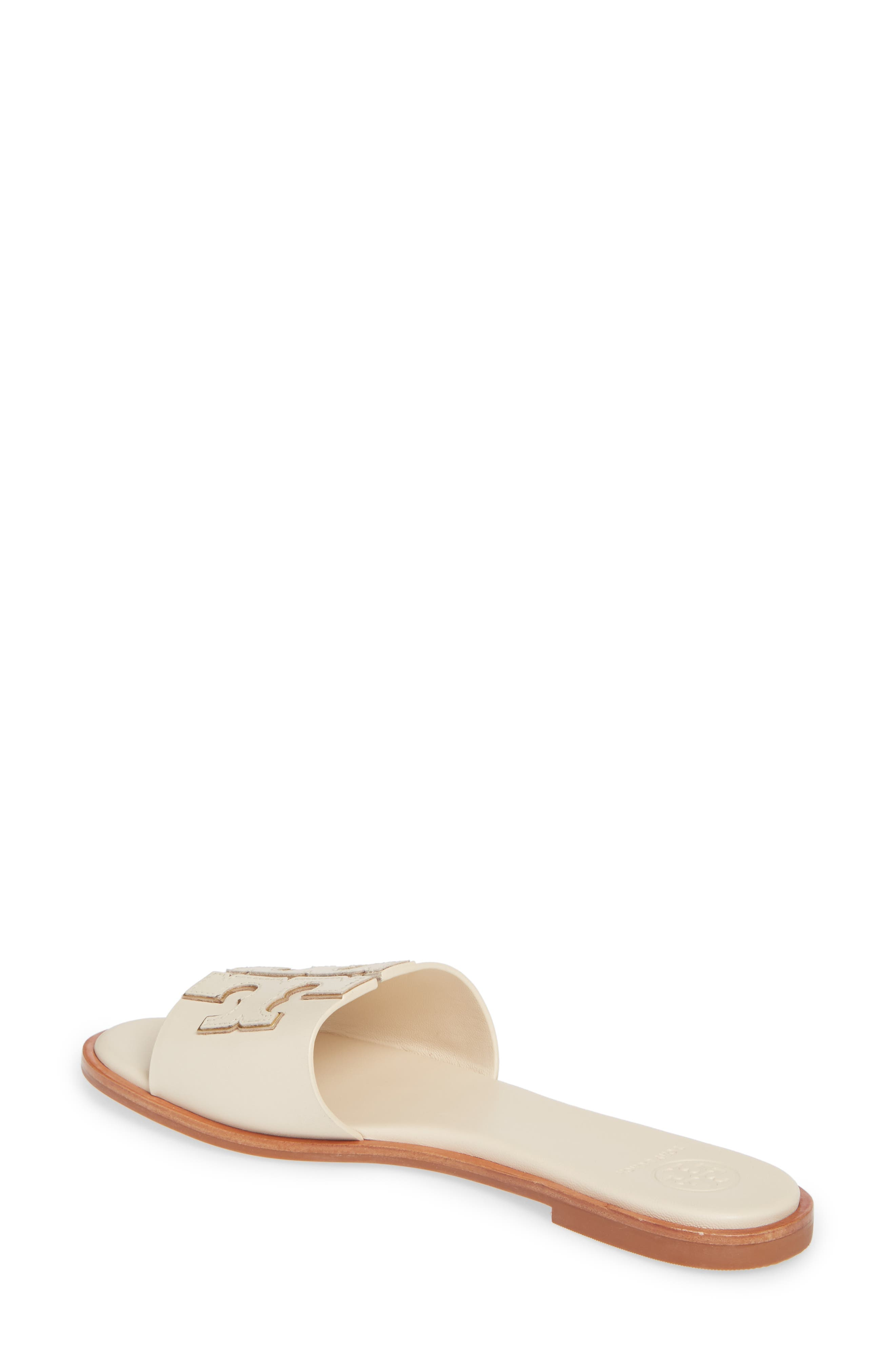 TORY BURCH, Ines Slide Sandal, Alternate thumbnail 2, color, NEW CREAM/ GOLD
