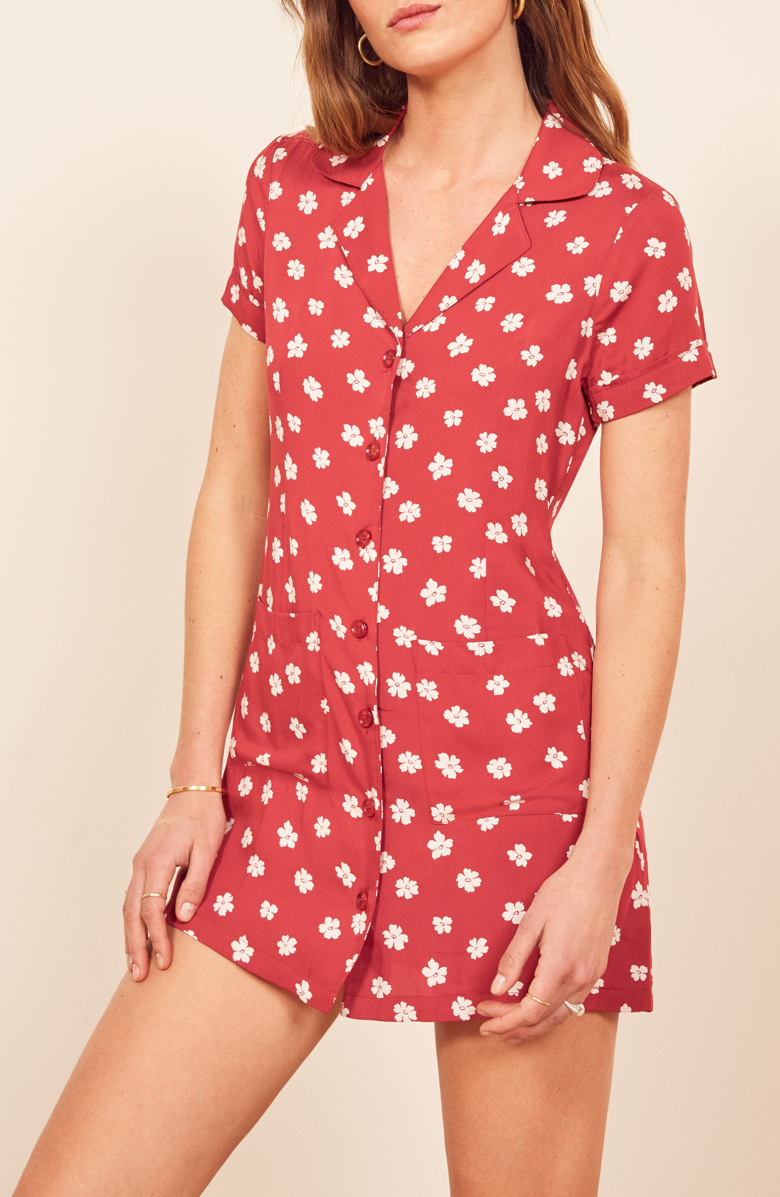 REFORMATION, Plymouth Shirtdress, Alternate thumbnail 5, color, DELIA