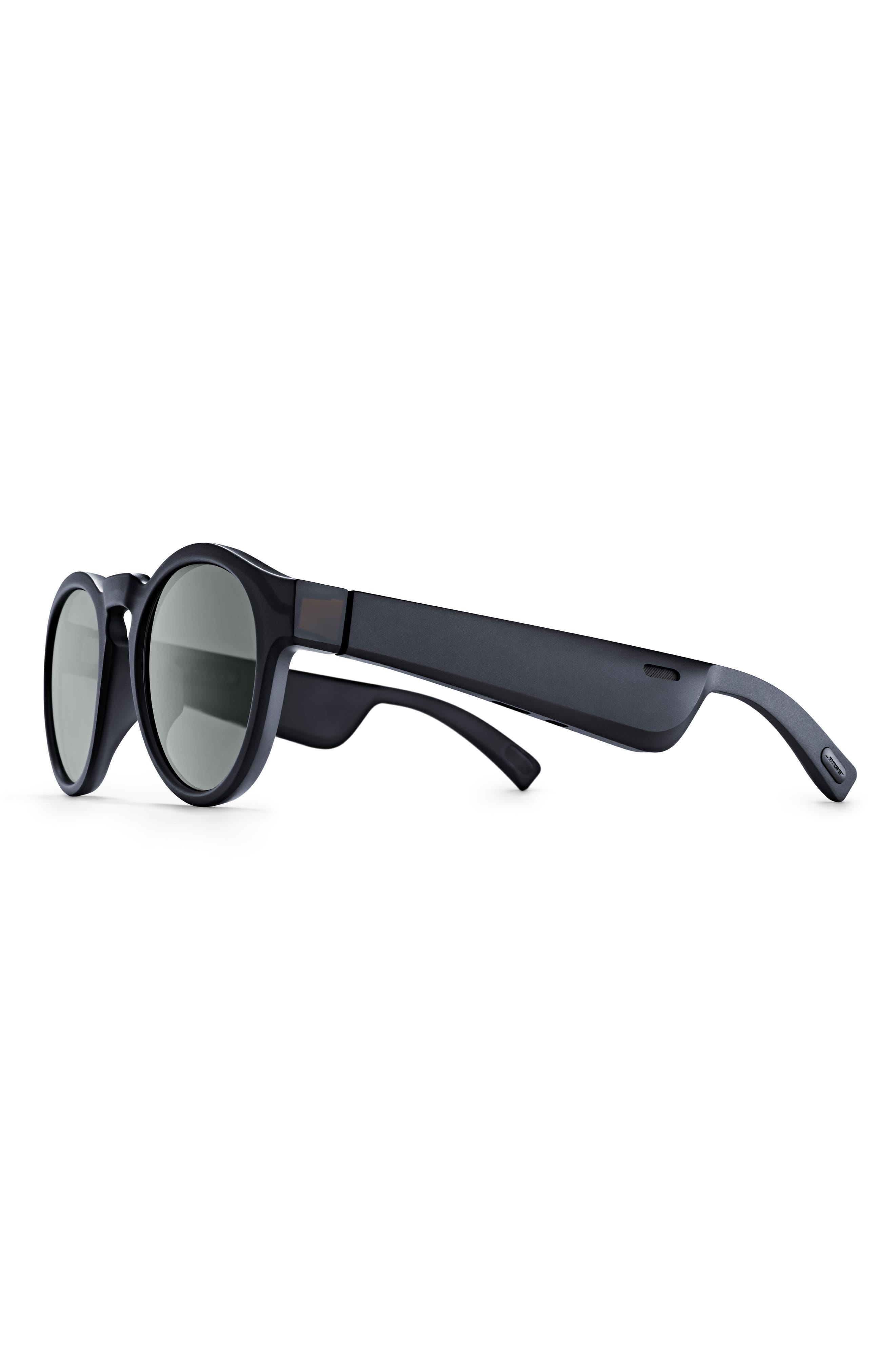 BOSE<SUP>®</SUP>, Frames Rondo 50mm Audio Sunglasses, Alternate thumbnail 3, color, BLACK