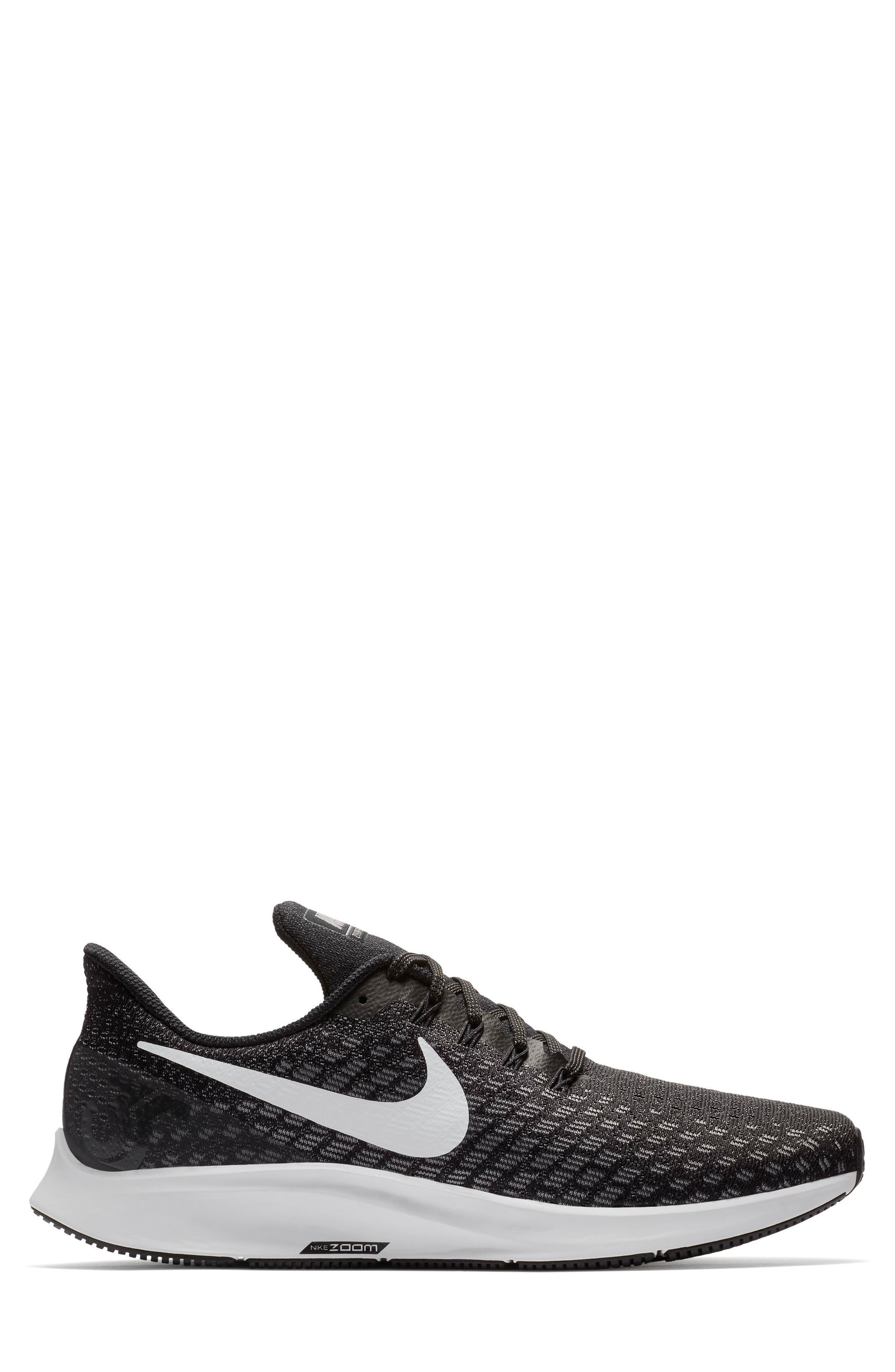 NIKE, Air Zoom Pegasus 35 Running Shoe, Alternate thumbnail 2, color, BLACK/ WHITE/ BLACK