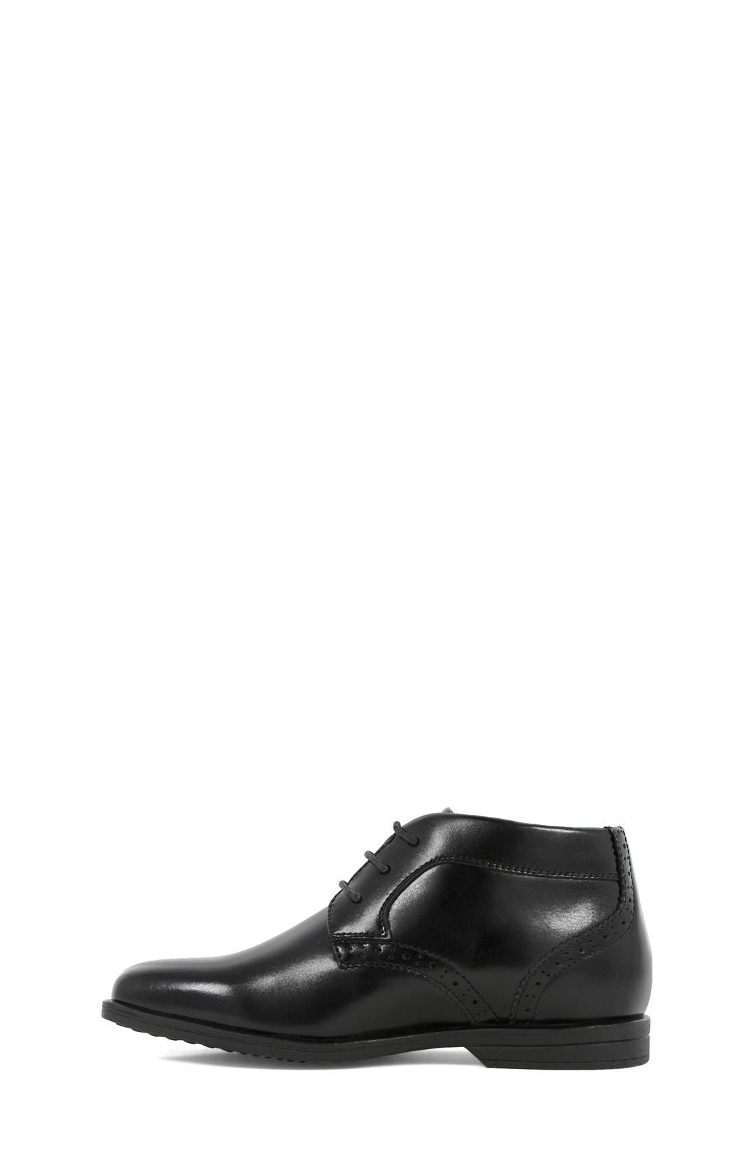 FLORSHEIM, 'Reveal' Chukka Boot, Alternate thumbnail 6, color, BLACK LEATHER