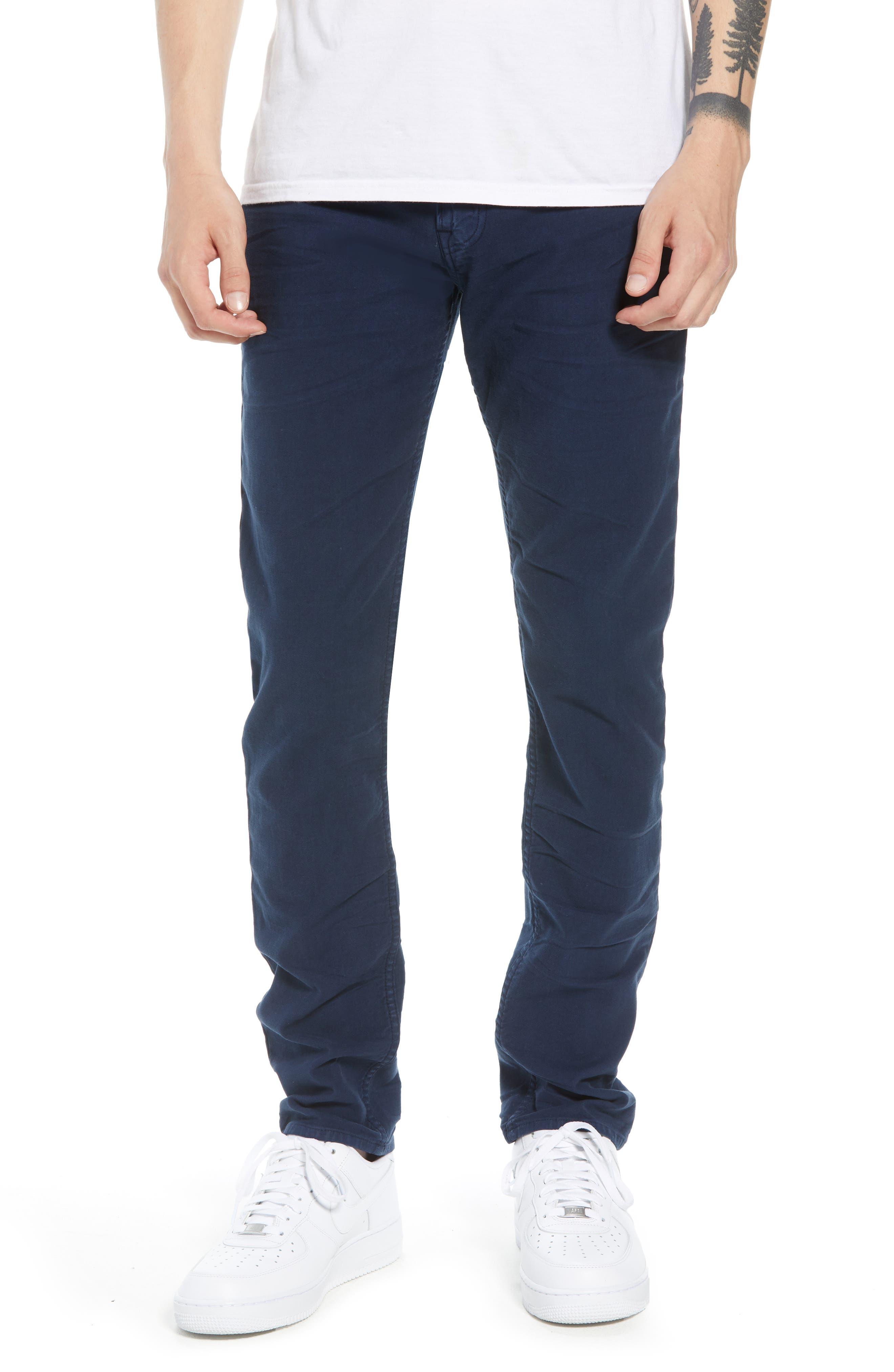 HUDSON JEANS, Axl Skinny Fit Jeans, Main thumbnail 1, color, SAILOR BLUE