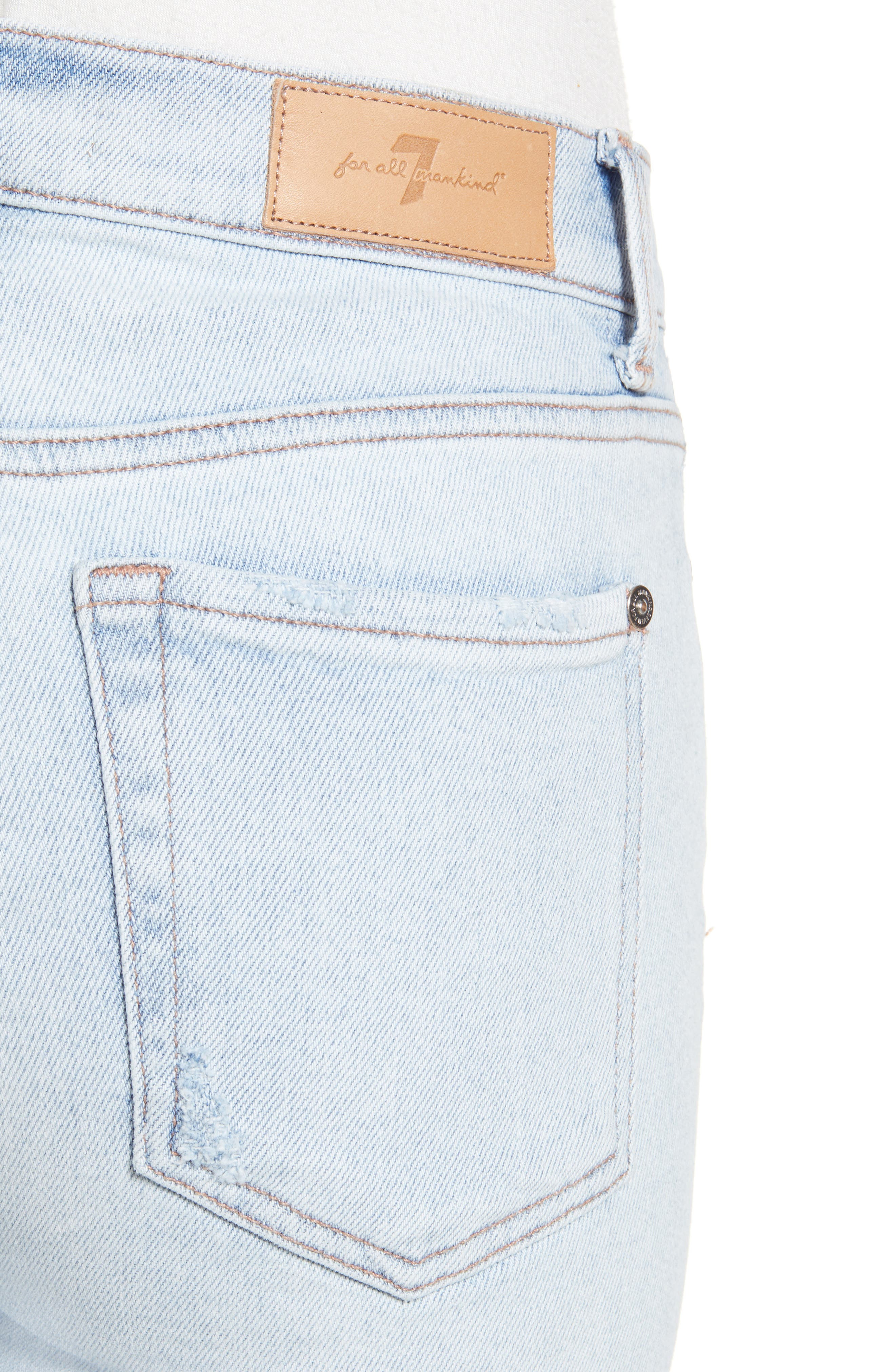 7 FOR ALL MANKIND<SUP>®</SUP>, Luxe Vintage High Waist Ankle Skinny Jeans, Alternate thumbnail 5, color, LUXE VINTAGE CLOUD