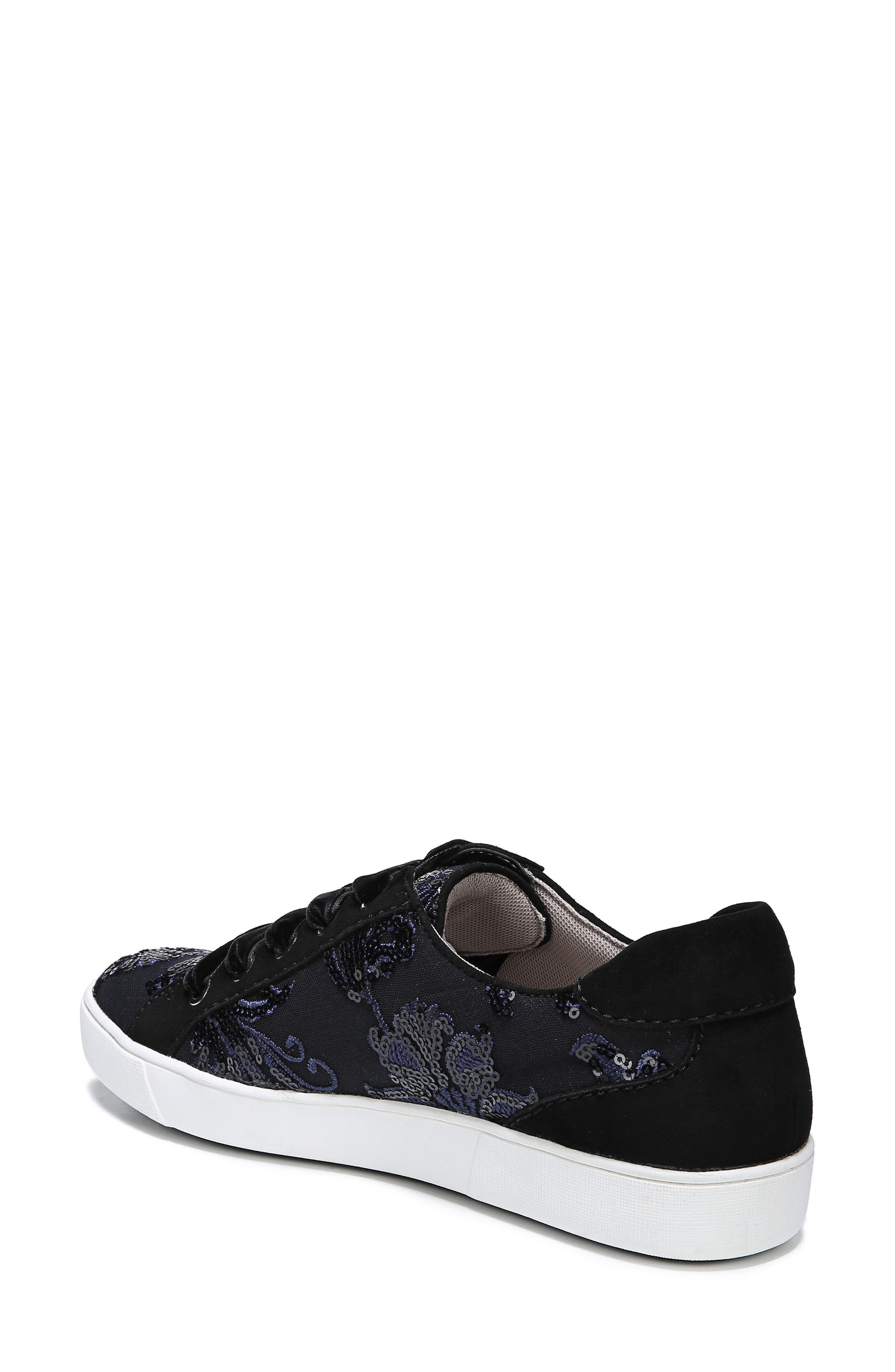 NATURALIZER, Morrison Sneaker, Alternate thumbnail 2, color, NAVY EMBROIDERED LACE