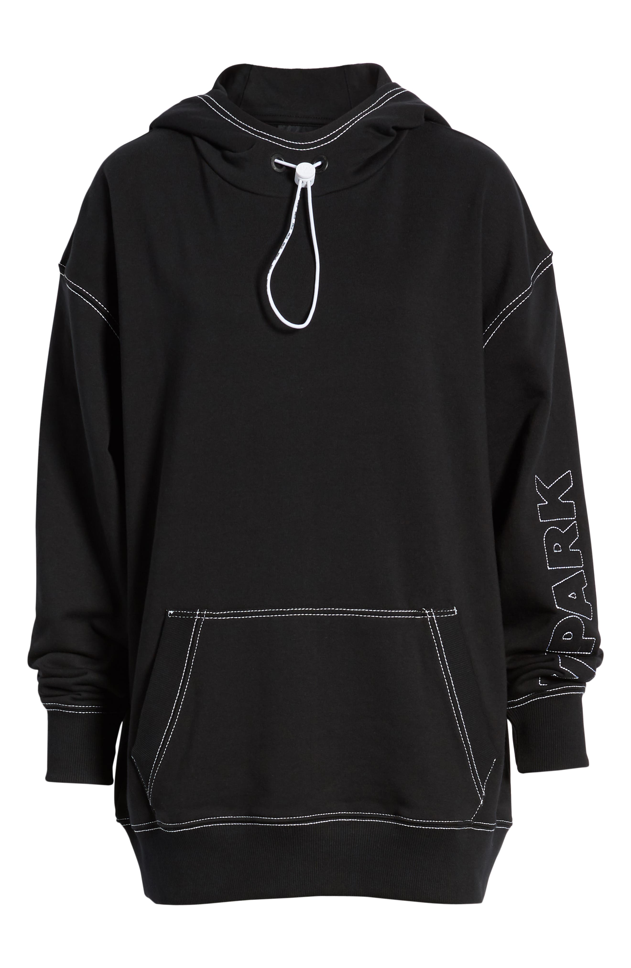 IVY PARK<SUP>®</SUP>, Stab Stitch Hoodie, Alternate thumbnail 7, color, 002