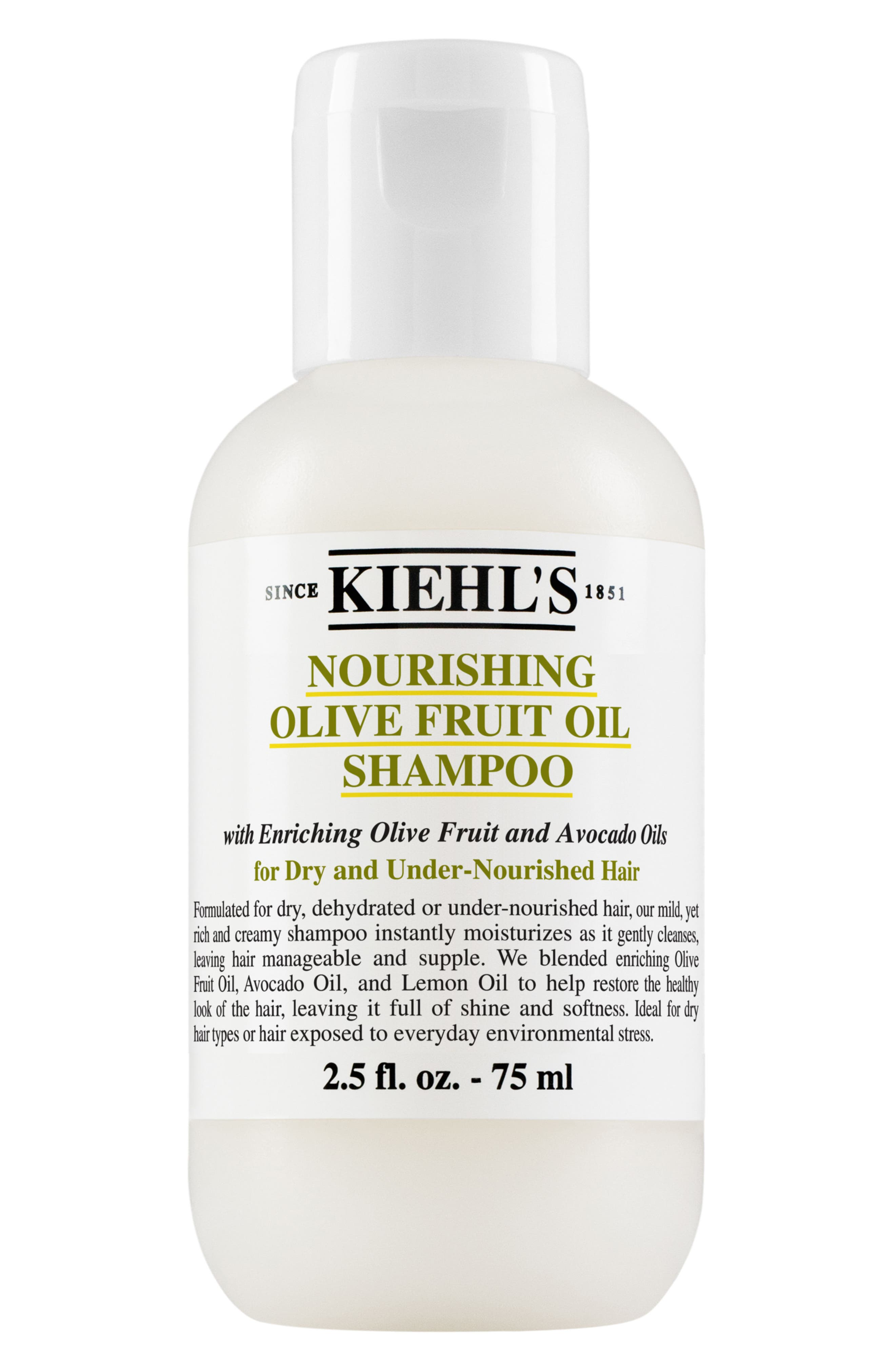 KIEHL'S SINCE 1851, Olive Fruit Oil Nourishing Shampoo, Main thumbnail 1, color, NO COLOR