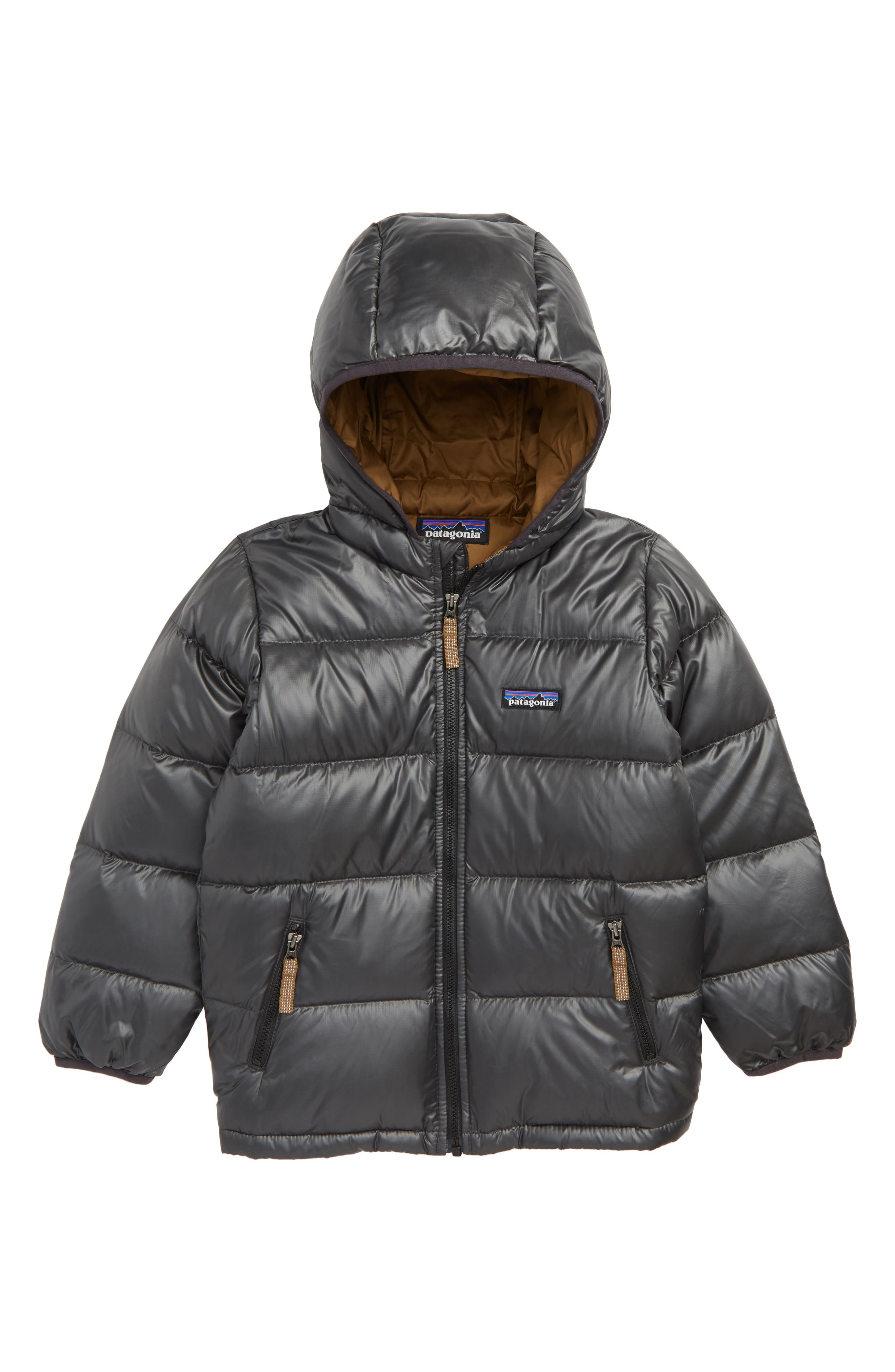 PATAGONIA Reversible Water Resistant 600-Fill-Power Down Hooded Jacket, Main, color, 020