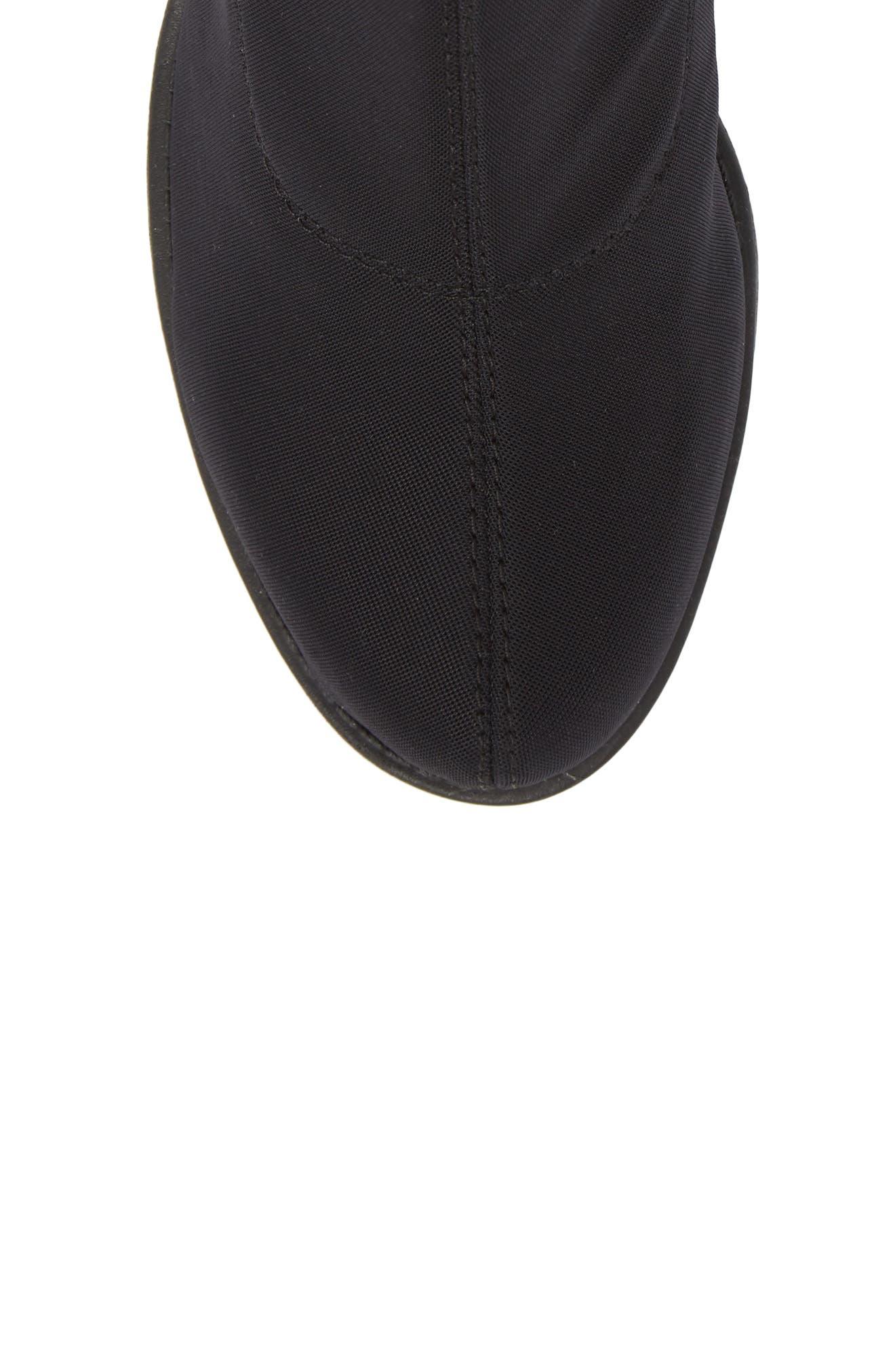 VAGABOND, Shoemakers Grace Platform Bootie, Alternate thumbnail 5, color, BLACK FABRIC