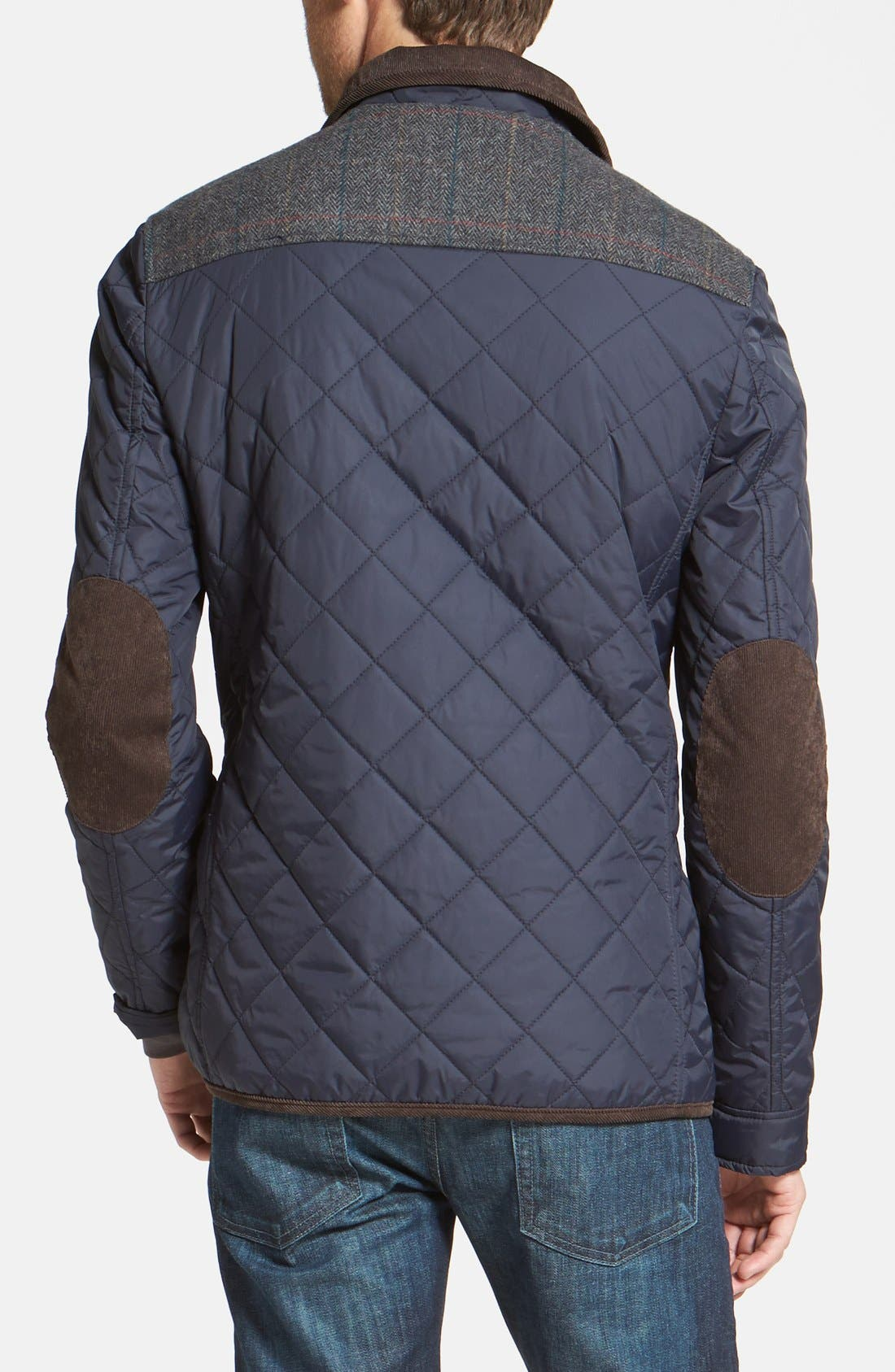 VINCE CAMUTO, Diamond Quilted Full Zip Jacket, Alternate thumbnail 9, color, NAVY