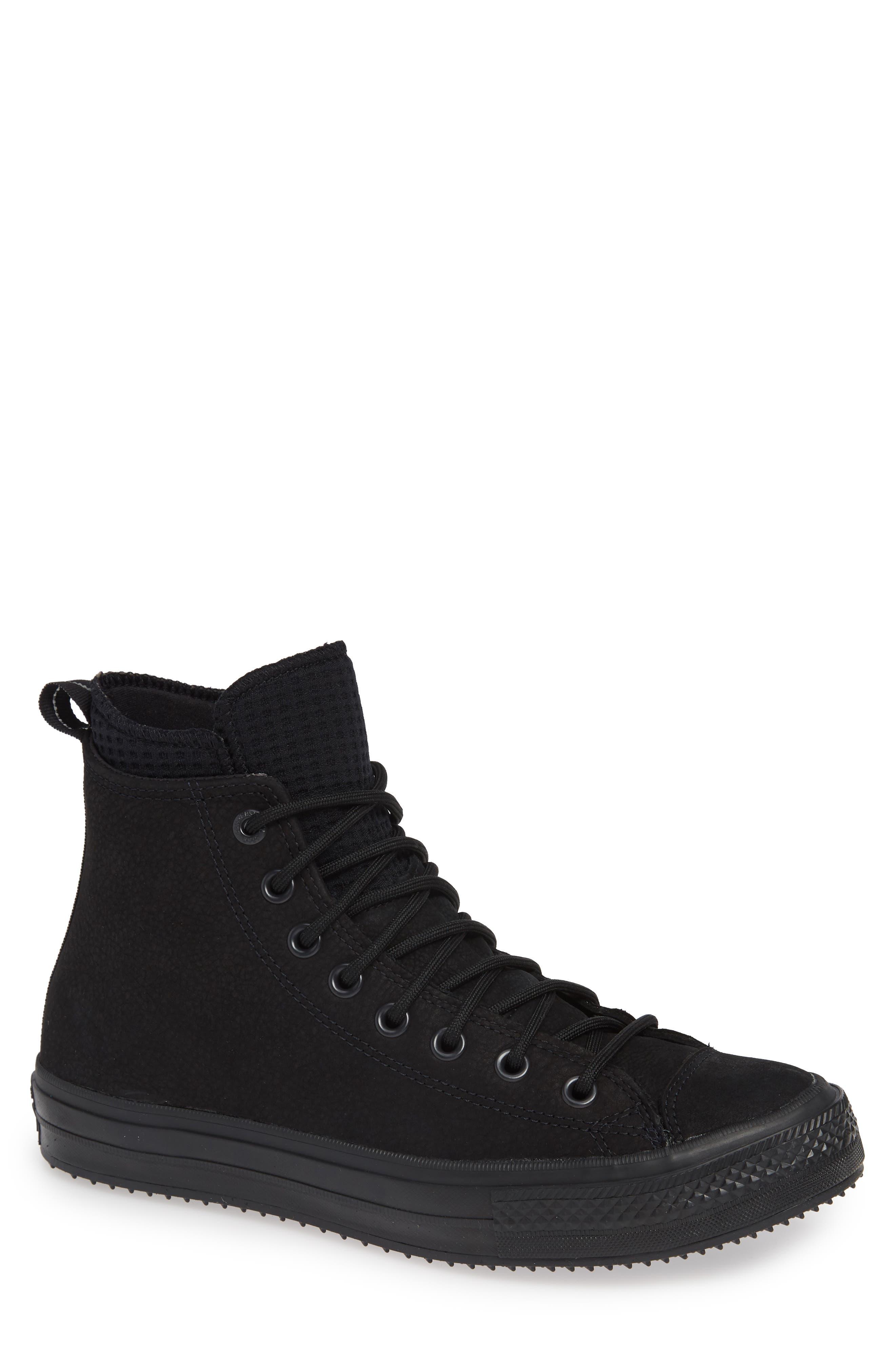 CONVERSE, Chuck Taylor<sup>®</sup> All Star<sup>®</sup> Counter Climate Waterproof Sneaker, Main thumbnail 1, color, BLACK/ BLACK/ BLACK