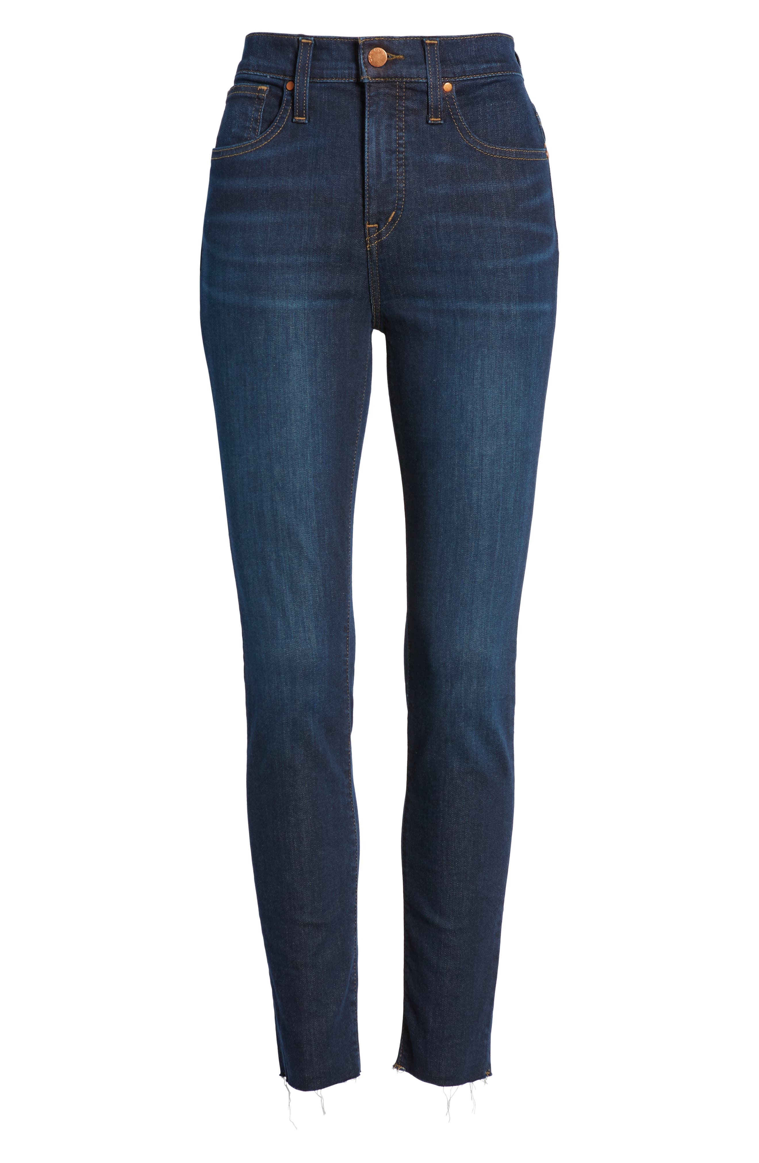 CASLON<SUP>®</SUP>, Sierra High Waist Skinny Jeans, Alternate thumbnail 7, color, 420