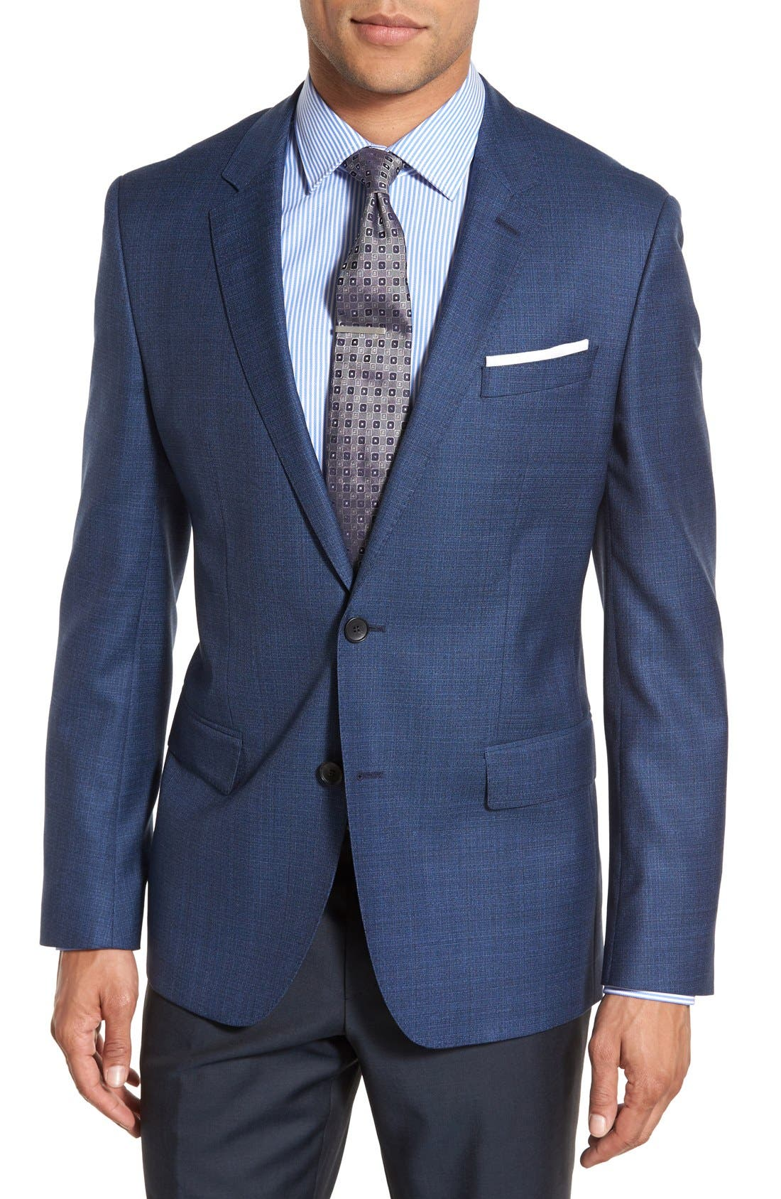 ZZDNUHUGO BOSS BOSS 'Jeen' Trim Fit Wool Blazer, Main, color, 420