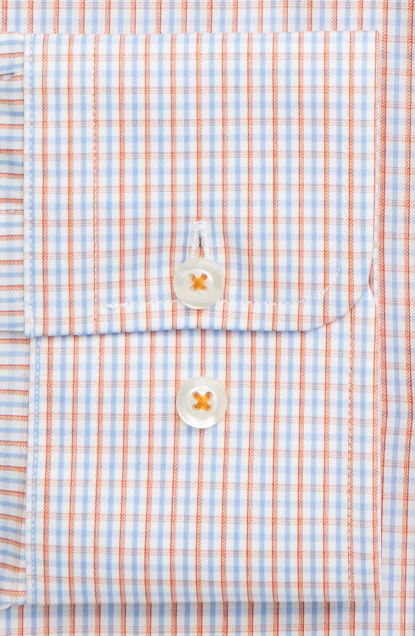 DAVID DONAHUE, Regular Fit Check Dress Shirt, Alternate thumbnail 2, color, MELON