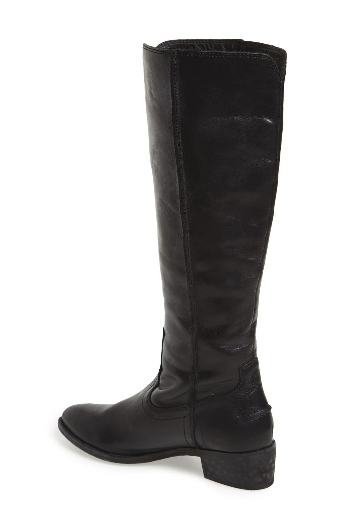 FRYE, 'Ray Seam' Tall Boot, Alternate thumbnail 4, color, 001