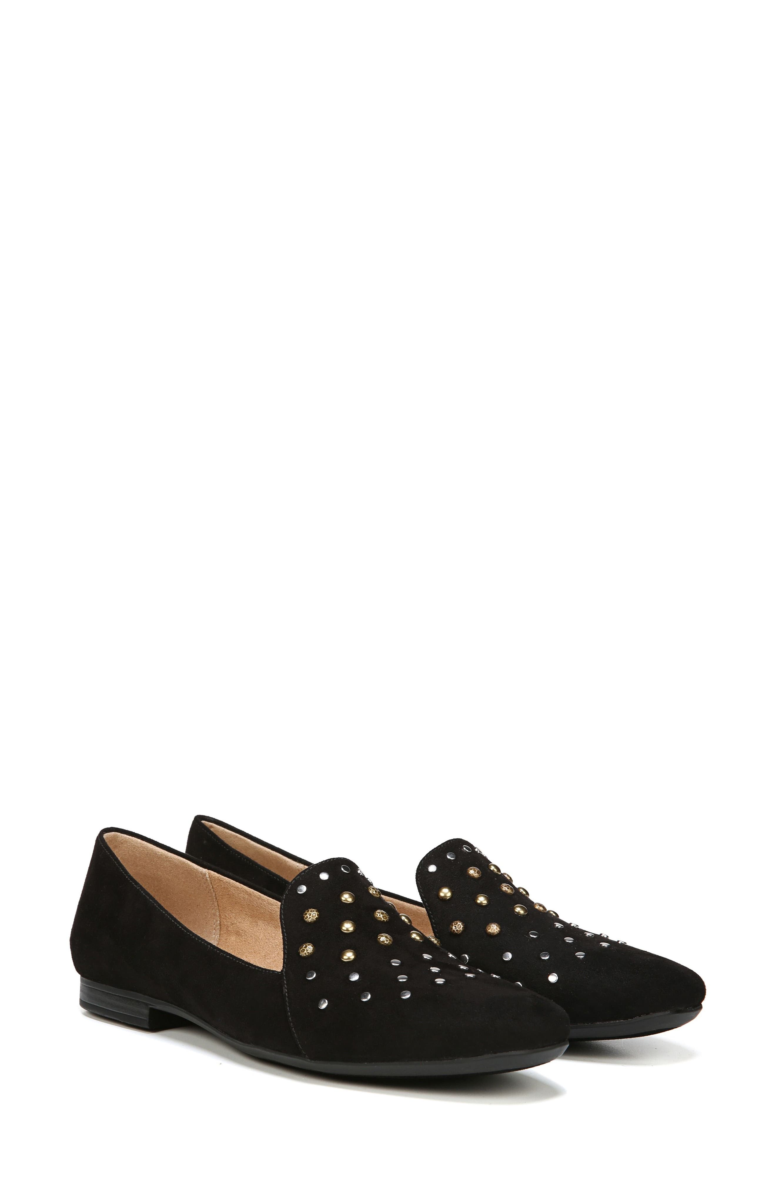 NATURALIZER, Emiline 4 Loafer, Alternate thumbnail 6, color, BLACK FABRIC