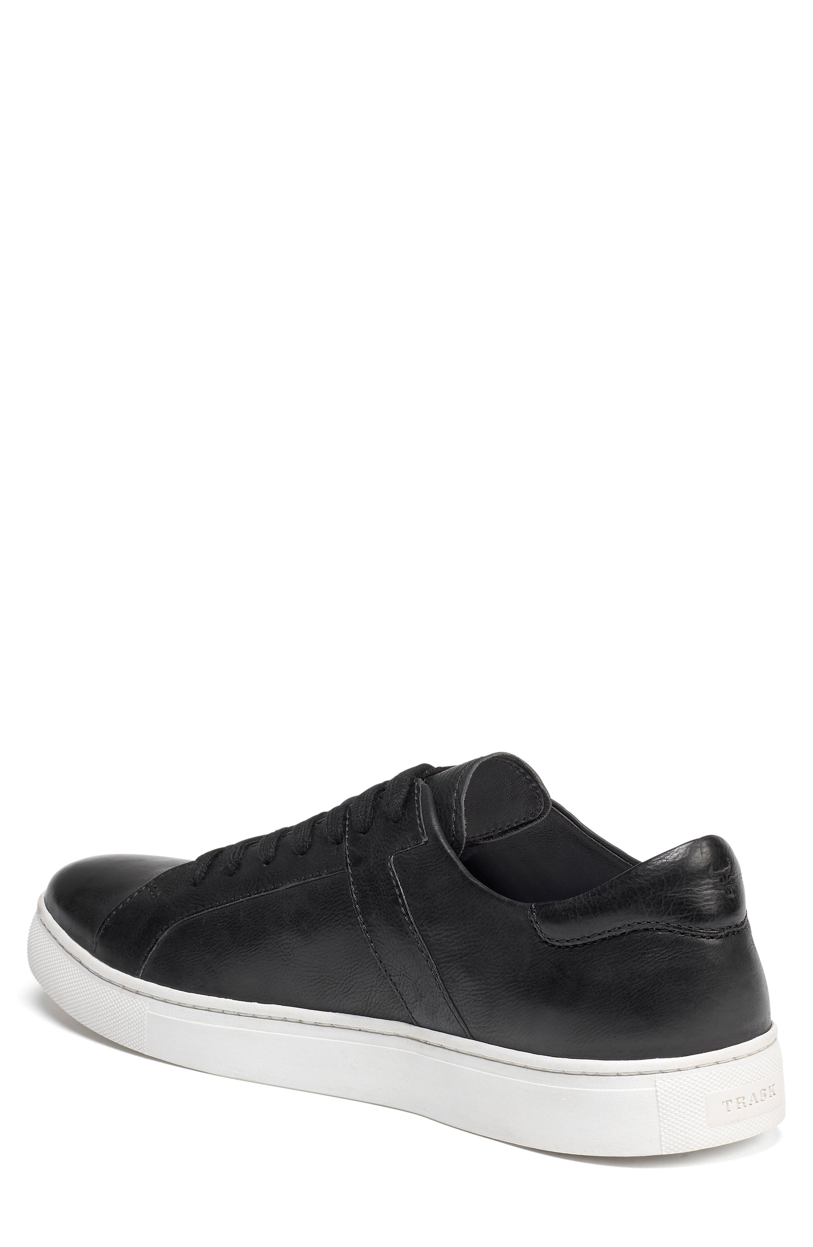TRASK, Aaron Sneaker, Alternate thumbnail 2, color, BLACK LEATHER