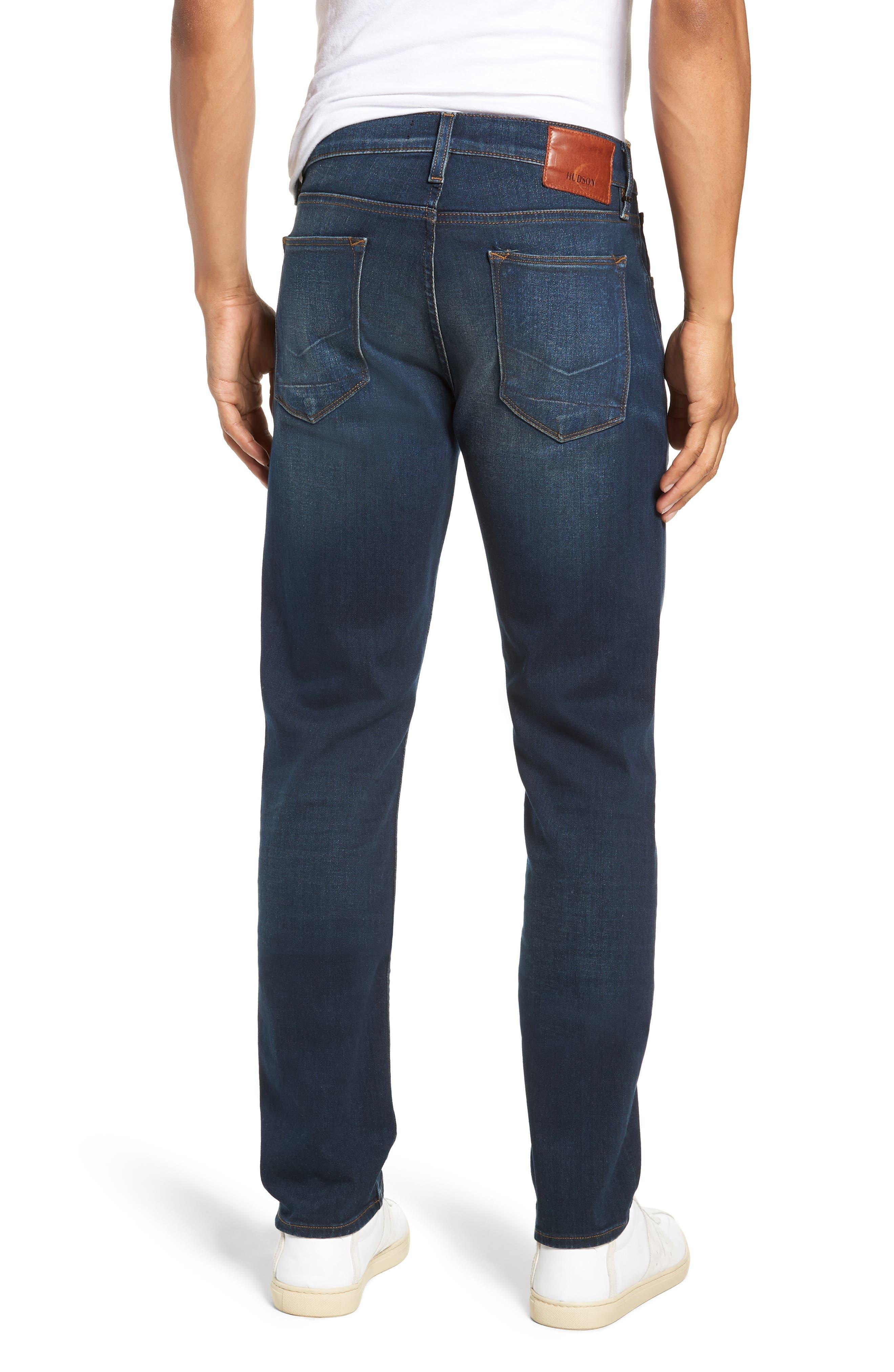 HUDSON JEANS, Blake Slim Fit Straight Leg Jeans, Alternate thumbnail 2, color, NORWOOD