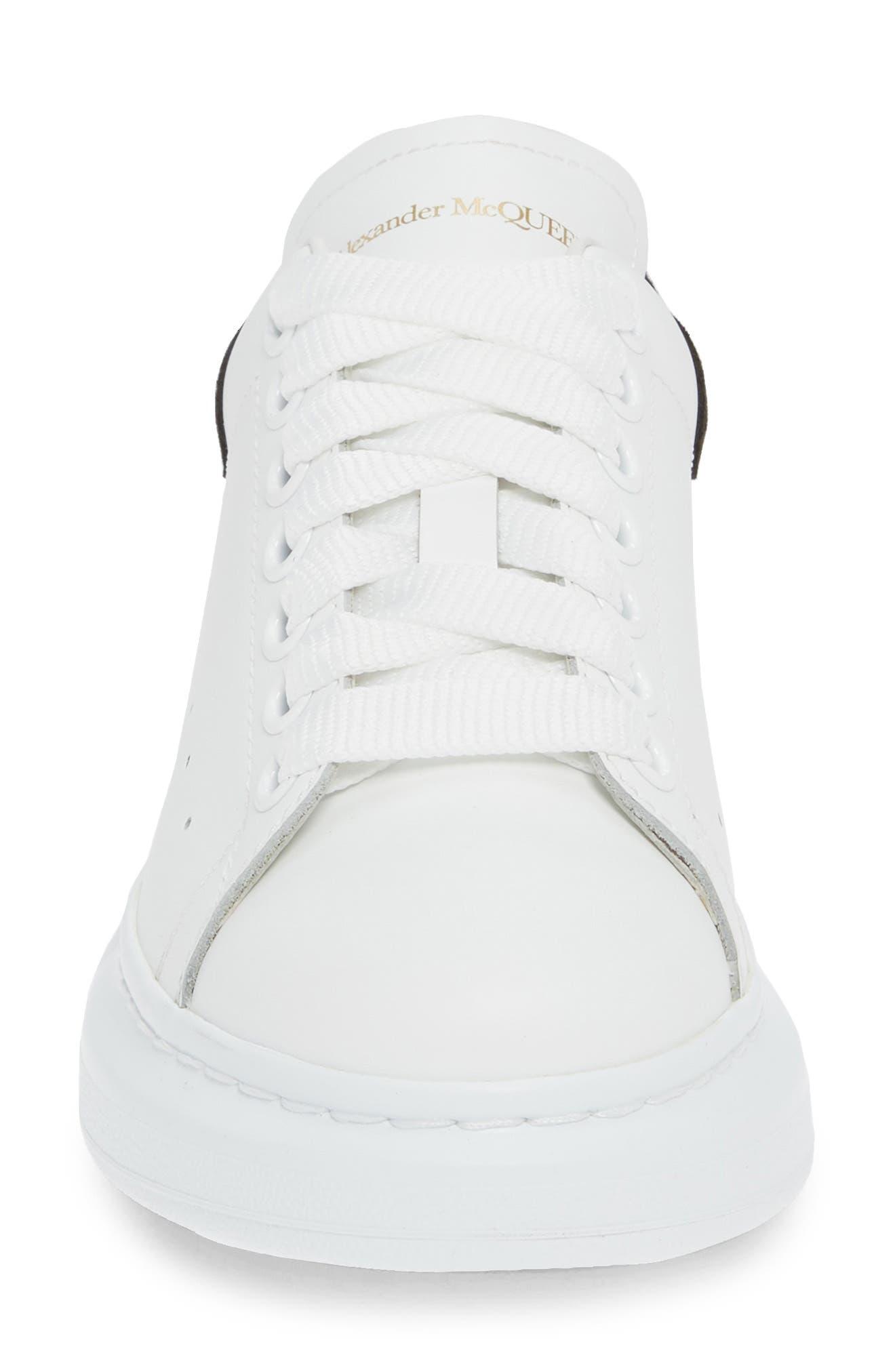 ALEXANDER MCQUEEN, Sneaker, Alternate thumbnail 4, color, WHITE BLACK