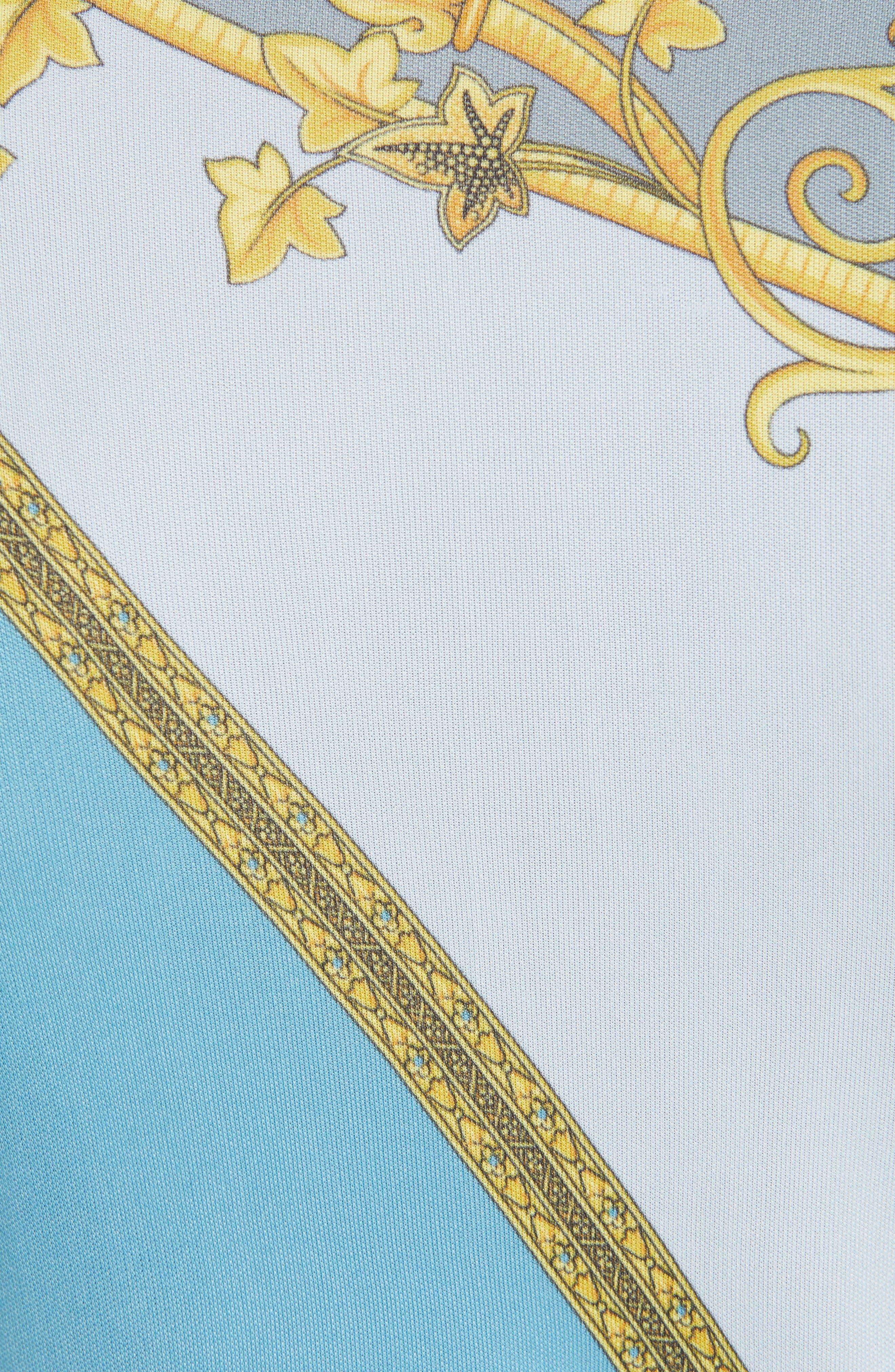 VERSACE COLLECTION, Barocco & Eyeshadow Print Tee, Alternate thumbnail 5, color, 456