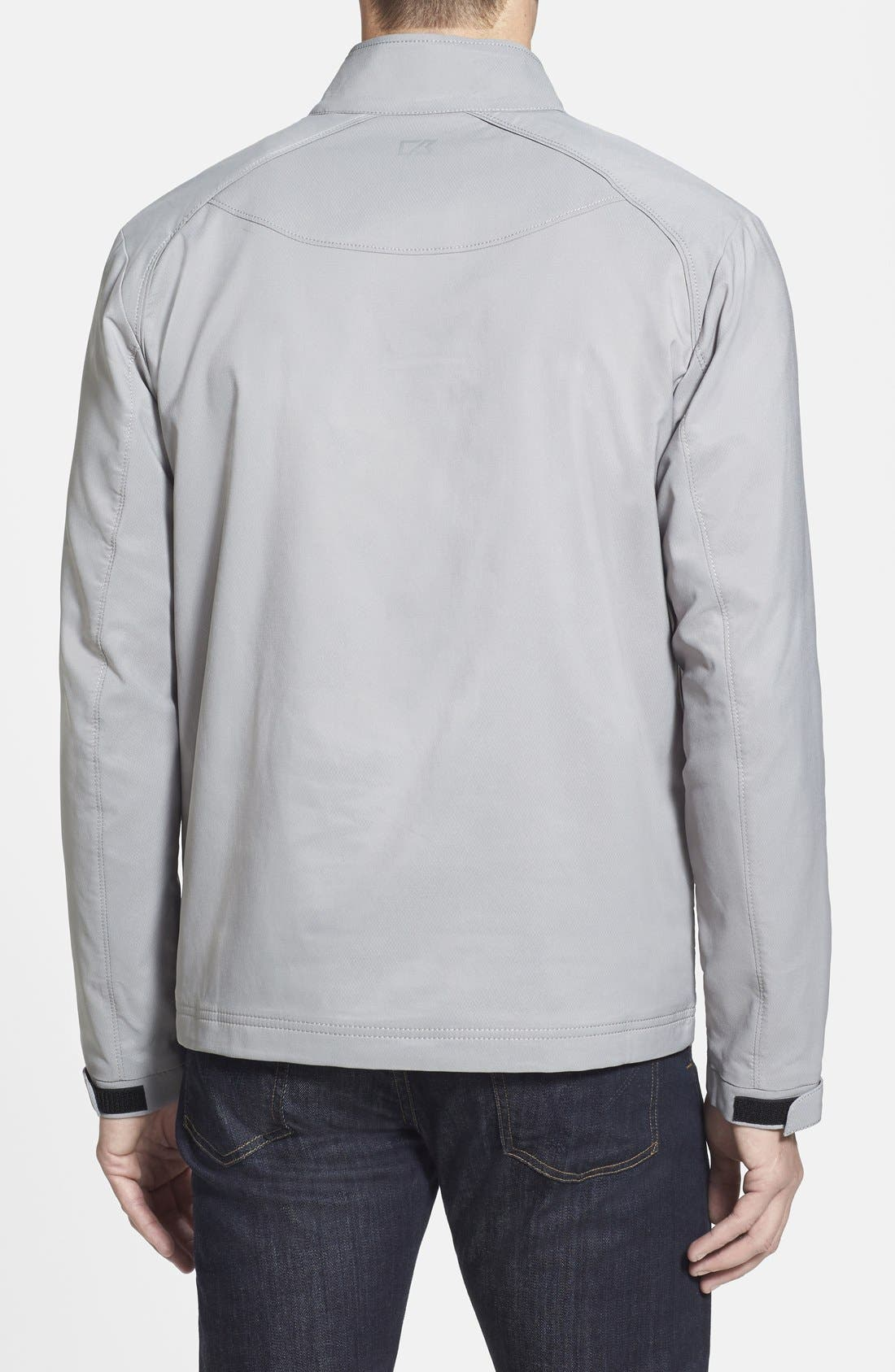 CUTTER & BUCK, Blakely WeatherTec<sup>®</sup> Wind & Water Resistant Full Zip Jacket, Alternate thumbnail 2, color, OXIDE GREY