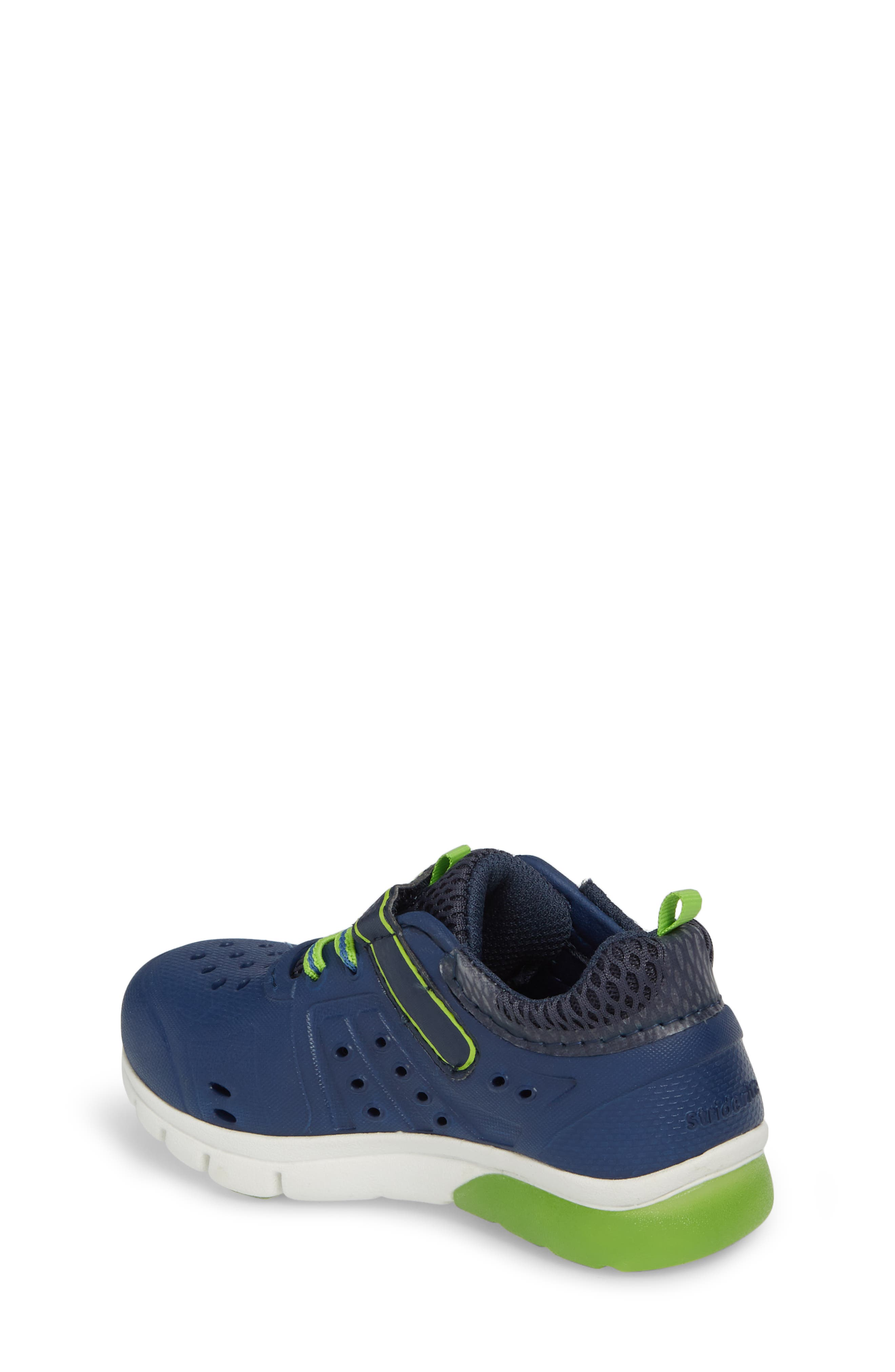 STRIDE RITE, Made2Play<sup>®</sup> Phibian Light-Up Sneaker, Alternate thumbnail 2, color, NAVY