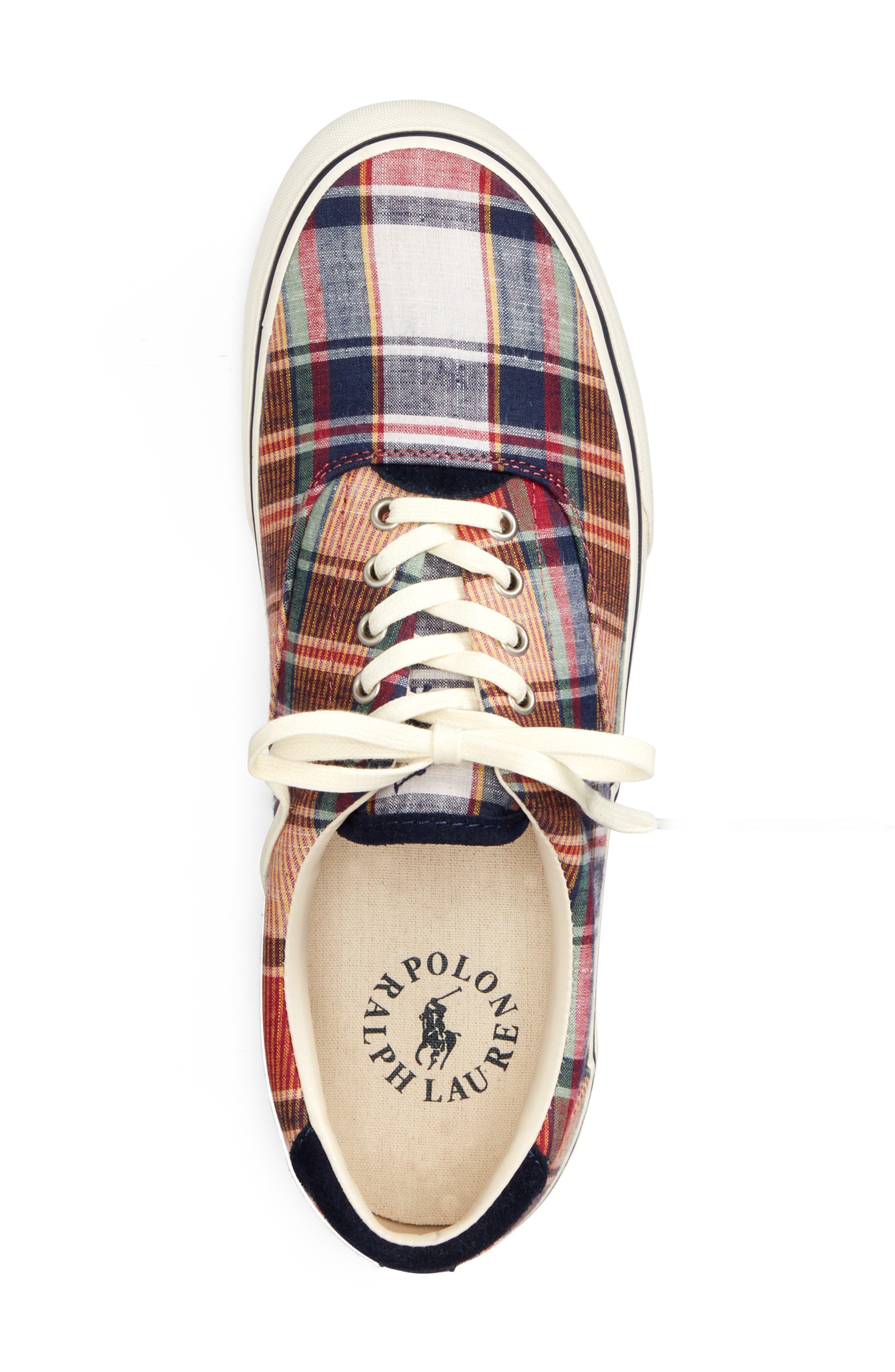 POLO RALPH LAUREN, Thorton III Sneaker, Alternate thumbnail 3, color, MULTI COLOR FABRIC