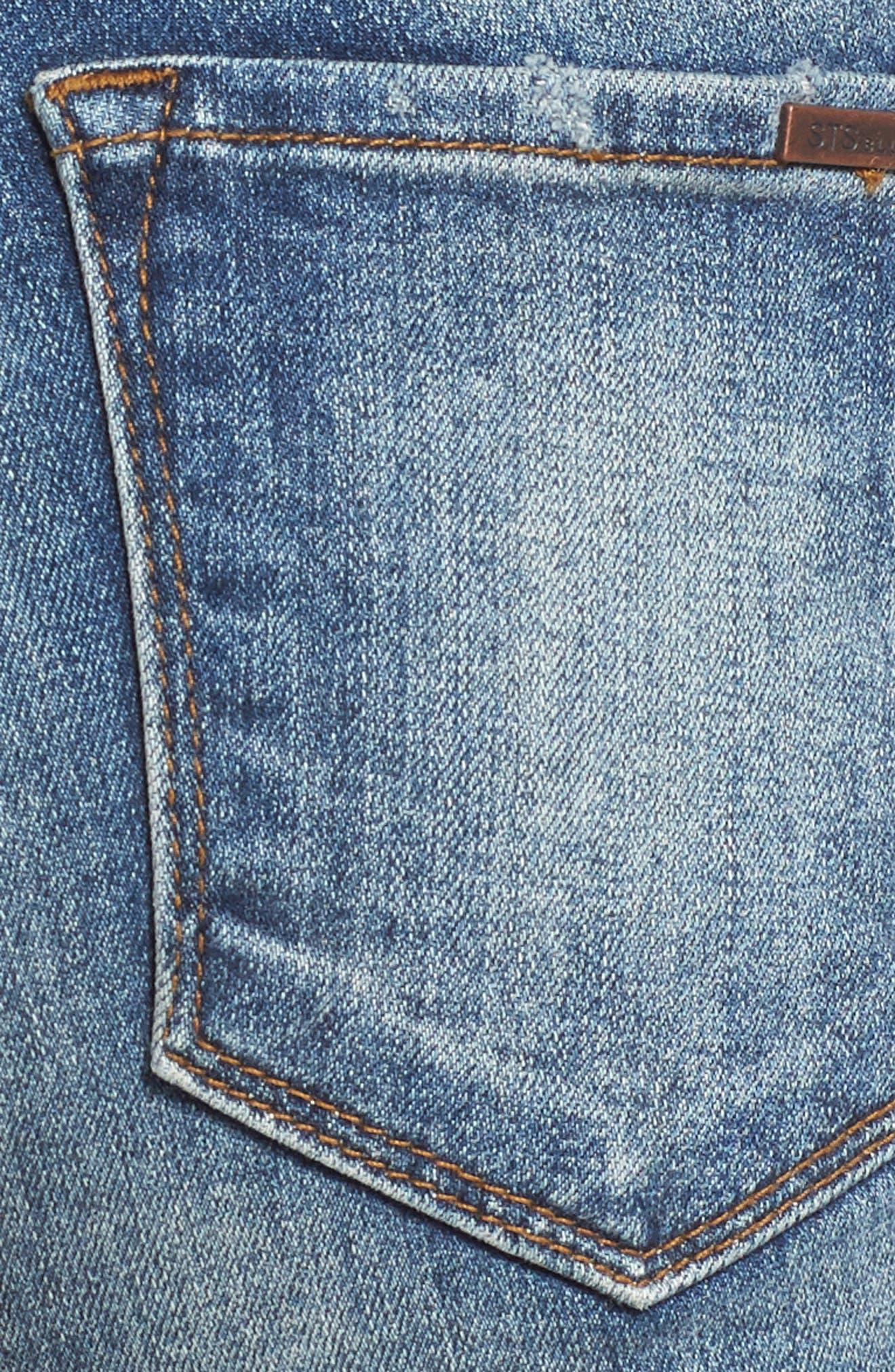 STS BLUE, Boyfriend Denim Shorts, Alternate thumbnail 6, color, 400