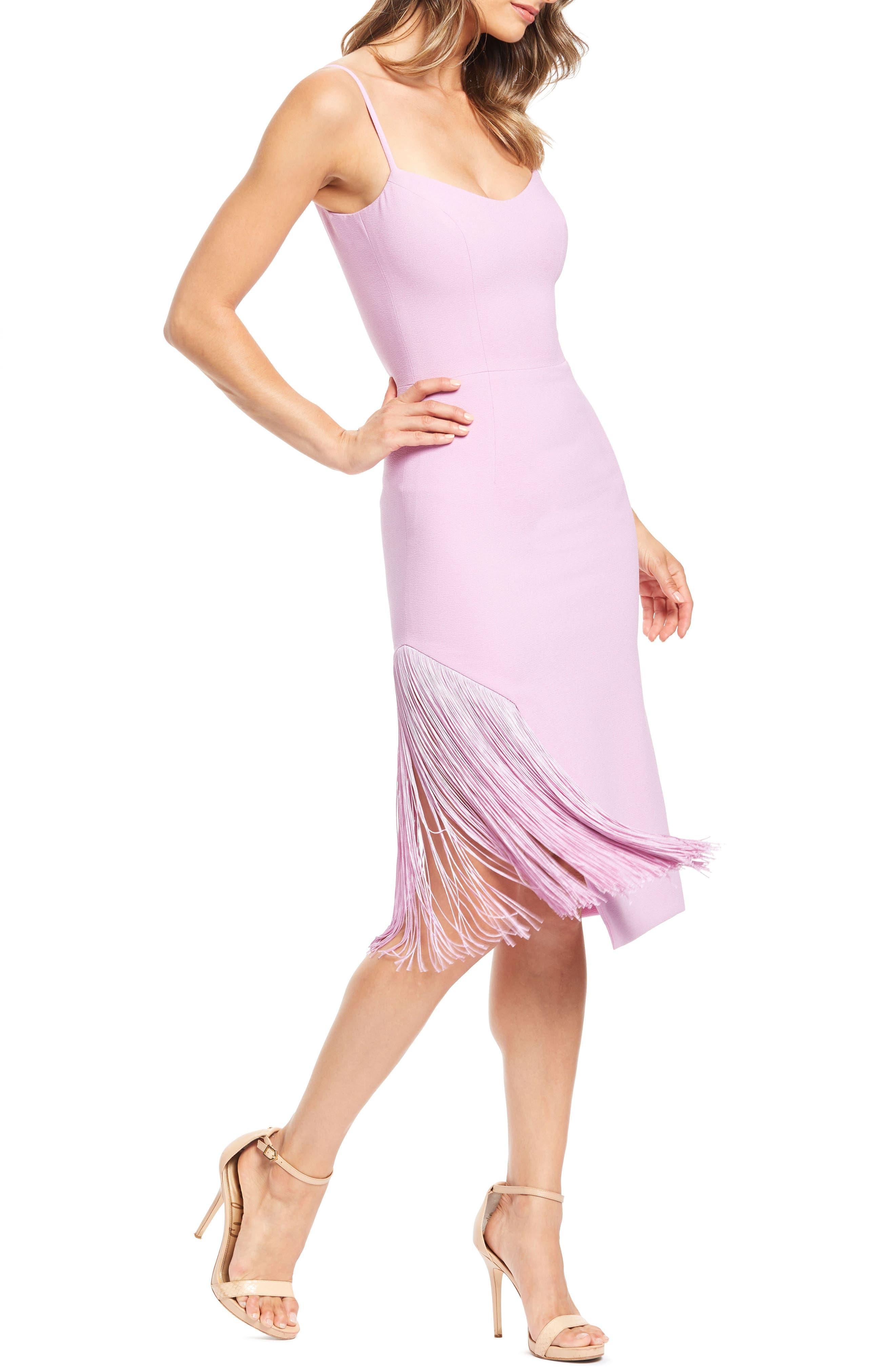 Dress The Population Rory Midi Dress, Purple