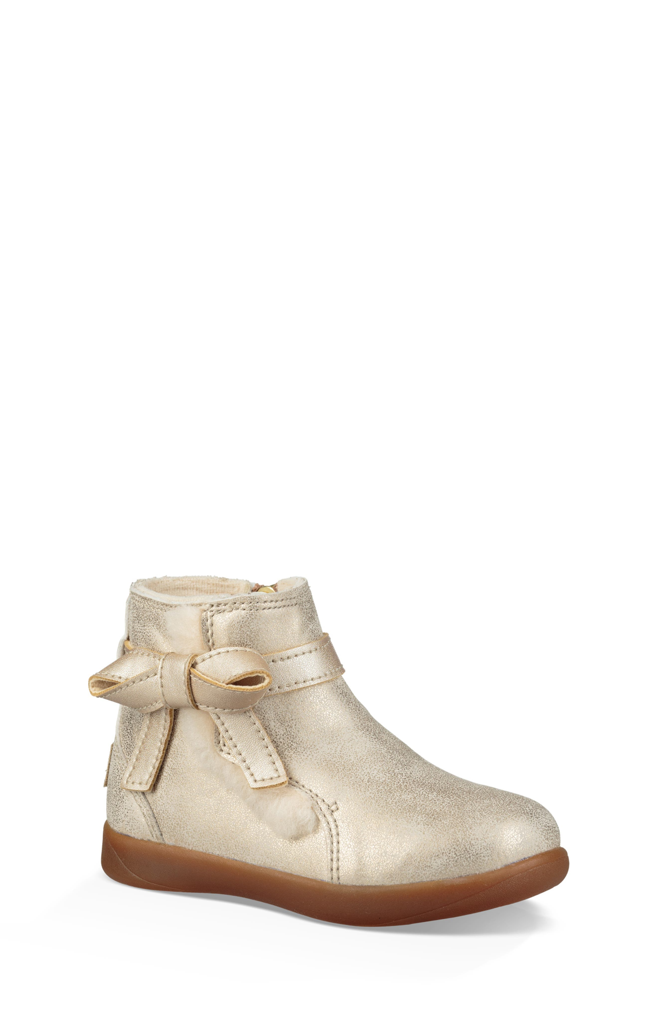 UGG<SUP>®</SUP> Libbie Metallic Boot, Main, color, GOLD