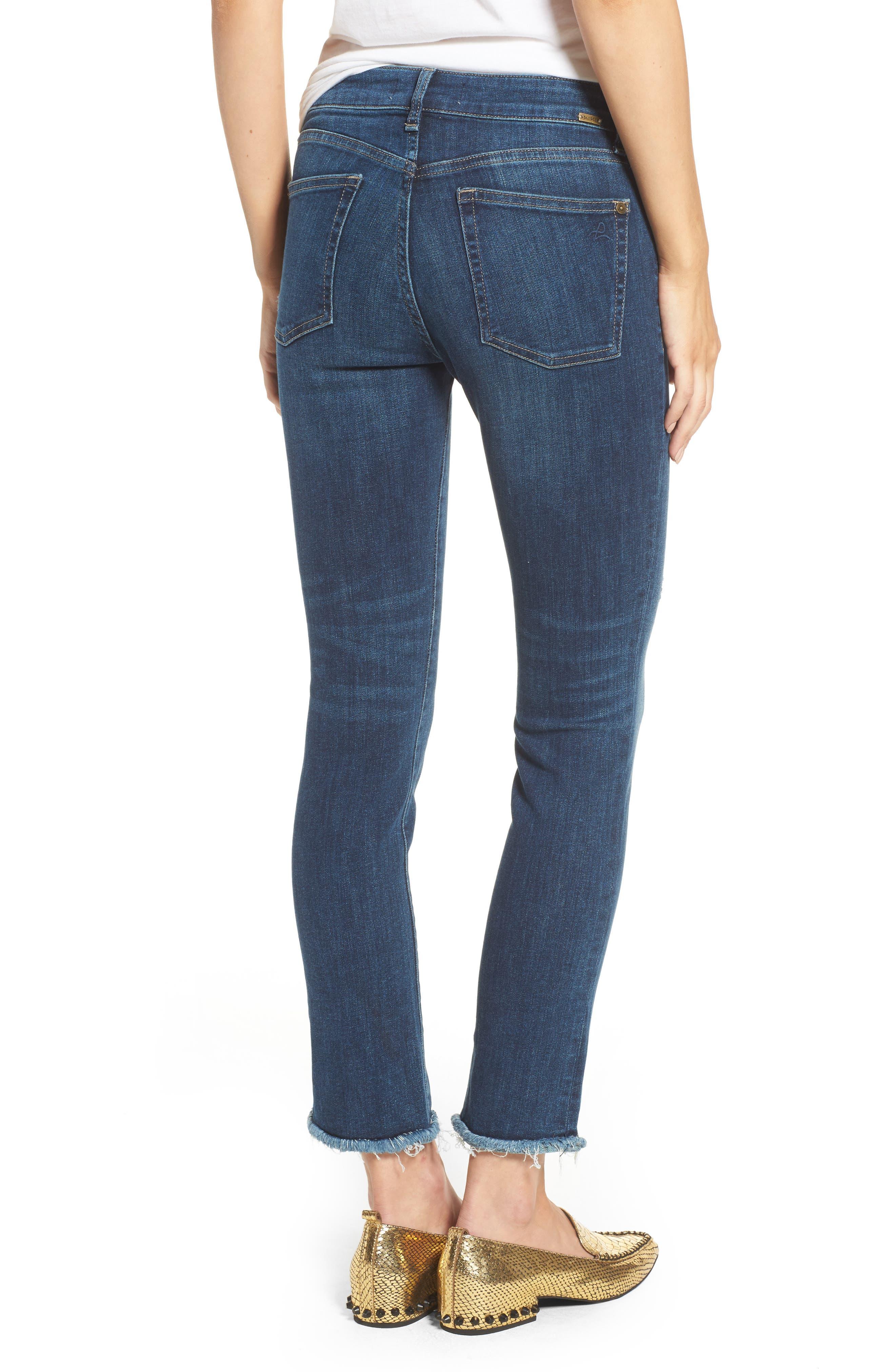 DL1961, Mara Ankle Straight Leg Jeans, Alternate thumbnail 2, color, RAVINE